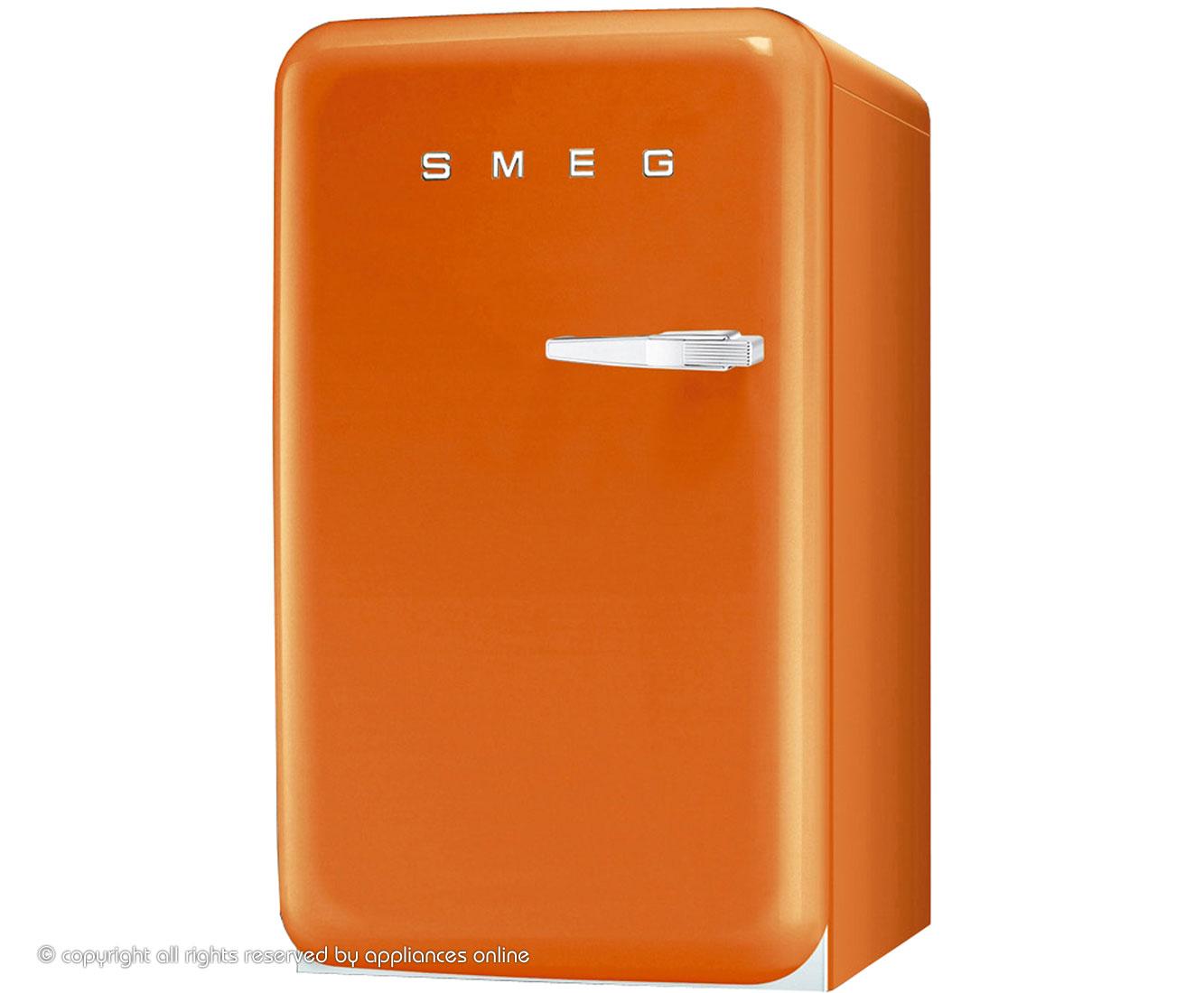 Smeg fab10lo fridge with ice box orange a rated for Smeg fridge