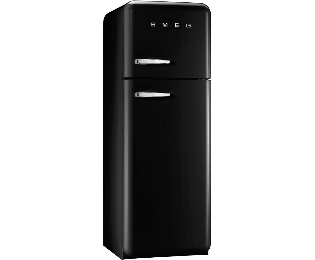 Smeg Right Hand Hinge FAB30RFN Free Standing Fridge Freezer in Black
