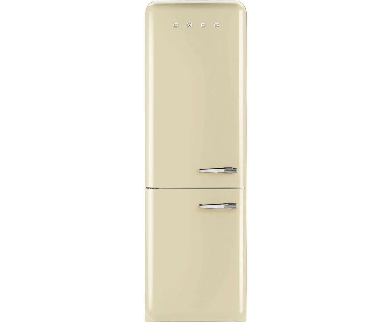 Smeg Left Hand Hinge FAB32LNC 60/40 Frost Free Fridge Freezer - Cream