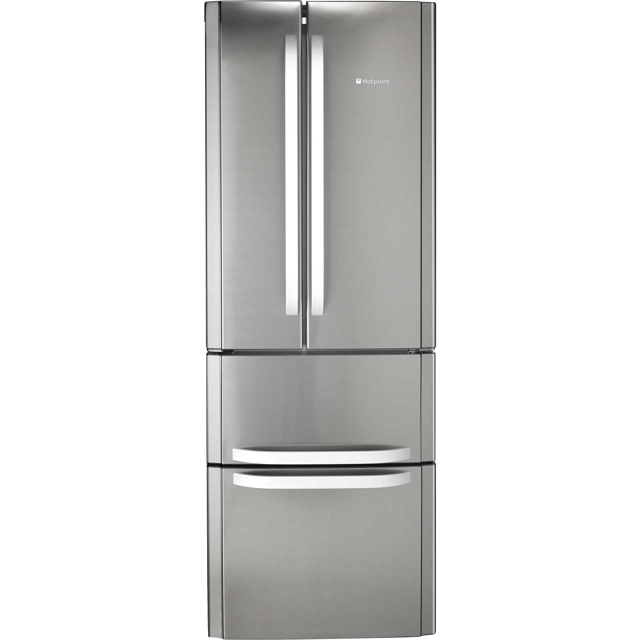 Hotpoint FFU4DX Free Standing Fridge Freezer Frost Free in Stainless Steel