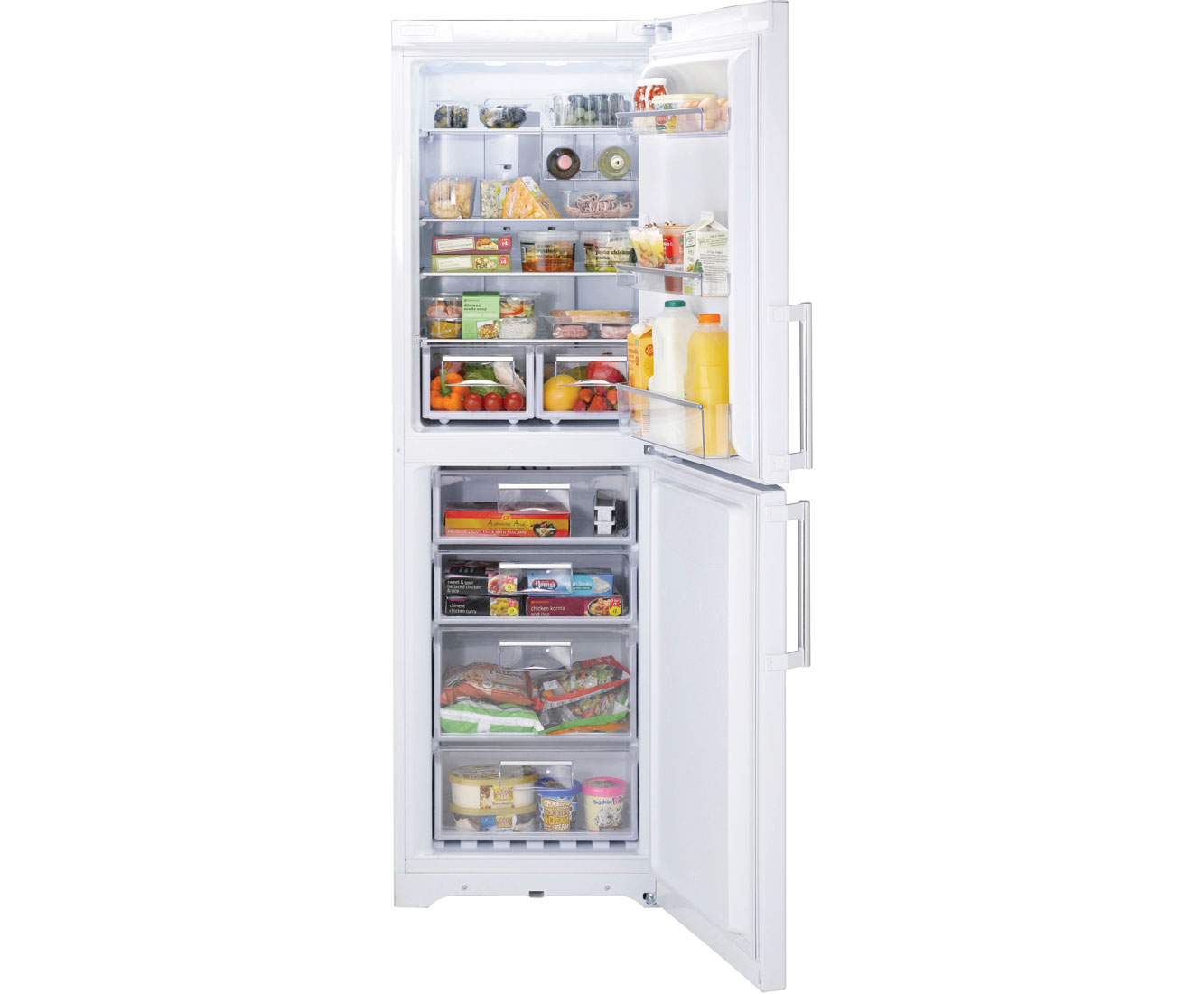 Hotpoint Ultima FFUL1820P 50/50 Frost Free Fridge Freezer - White
