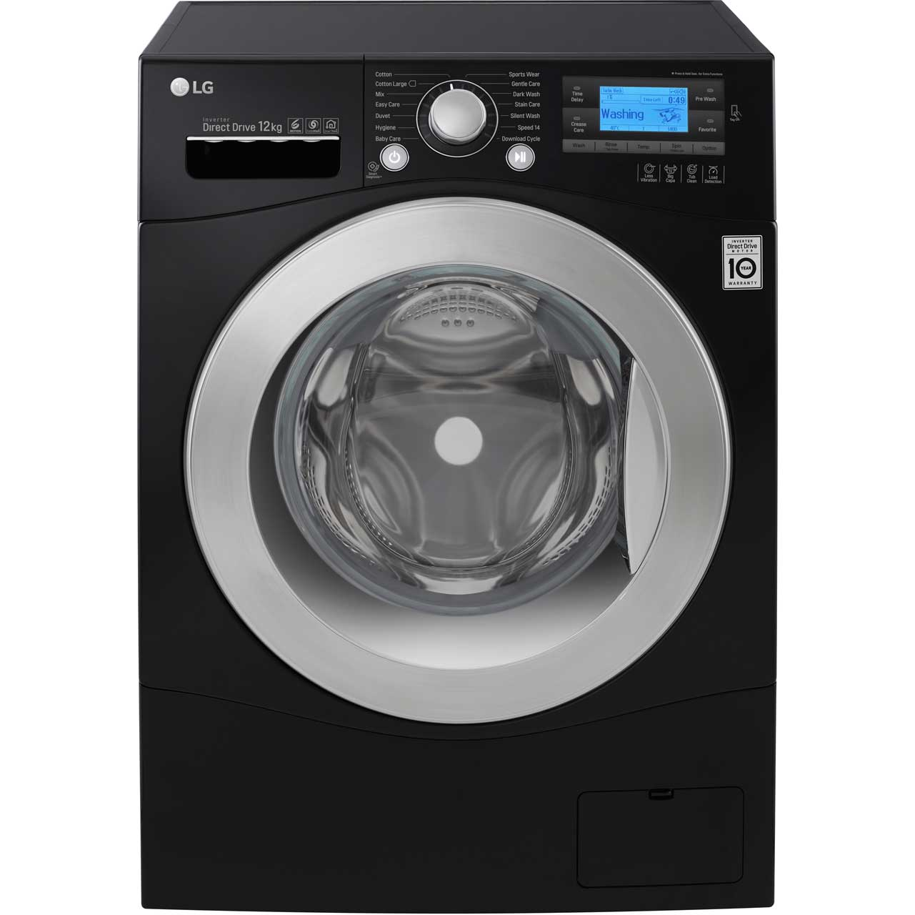 LG FH495BDN8 Free Standing Washing Machine in Black