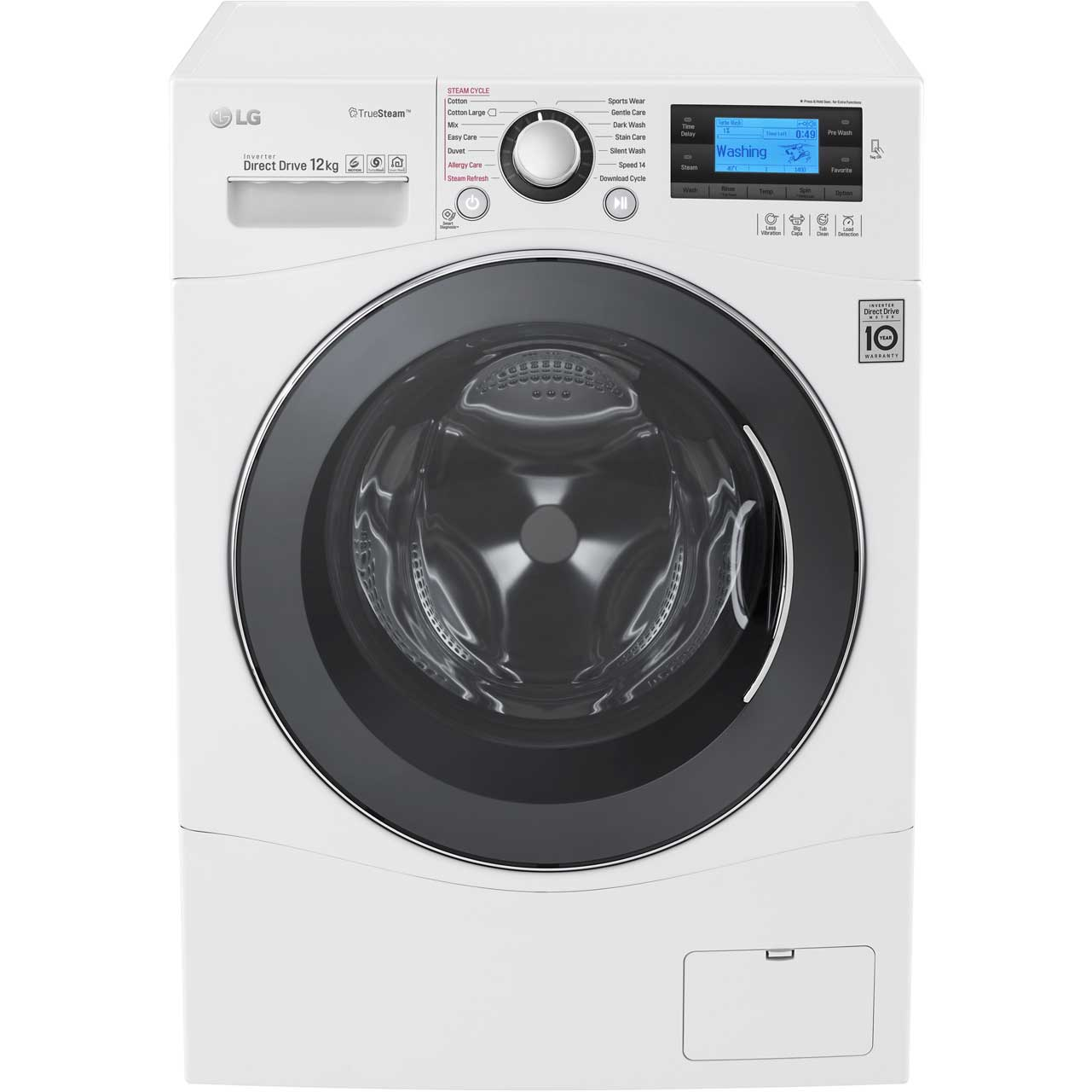 LG FH495BDS2 Free Standing Washing Machine in White