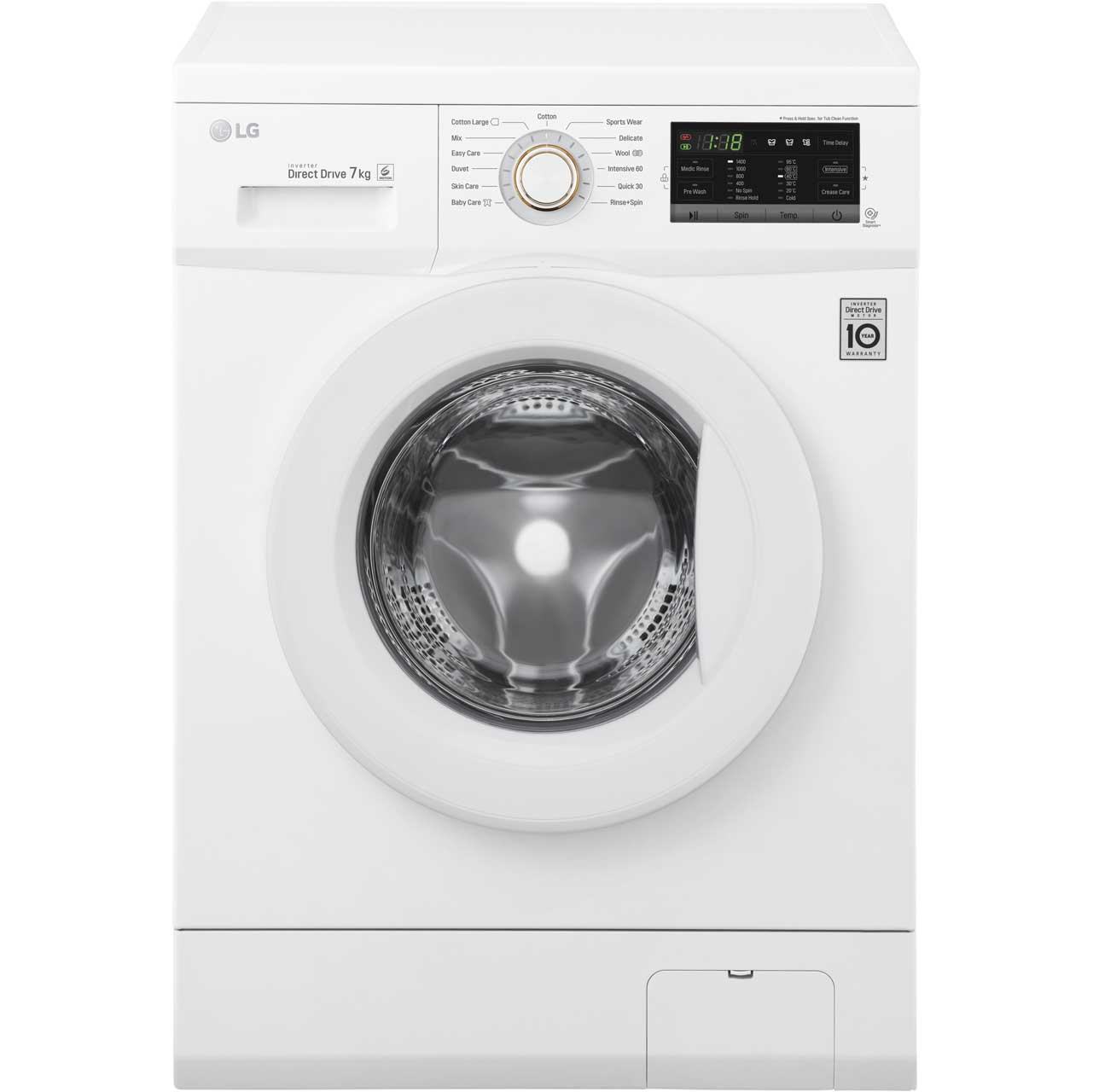 LG FH4G7QDN0 Free Standing Washing Machine in White