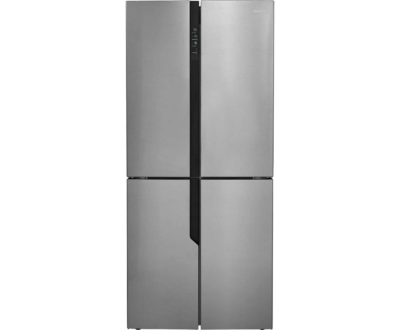 Hisense FMN432A20C American Fridge Freezer - Stainless Steel Look
