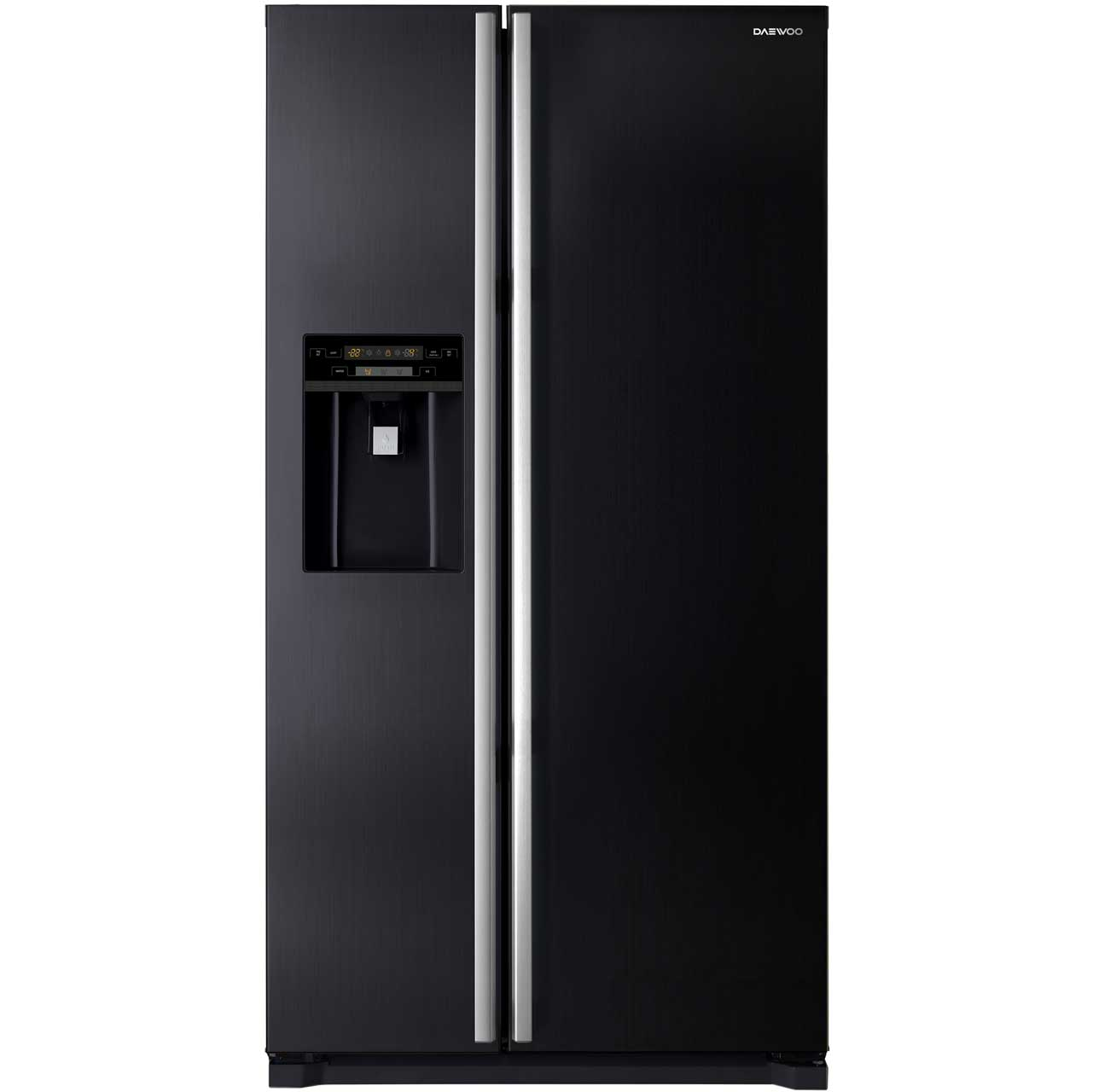 Daewoo FRAX22NP3B Free Standing American Fridge Freezer in Black