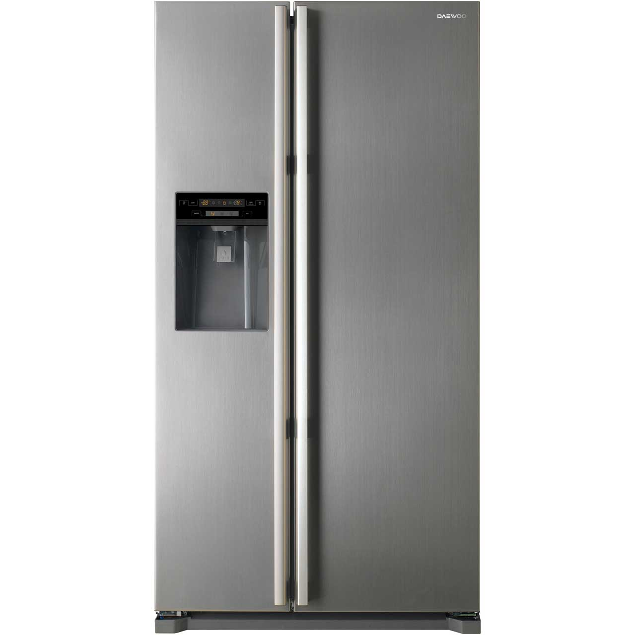 Daewoo FRAX22NP3S Free Standing American Fridge Freezer in Silver