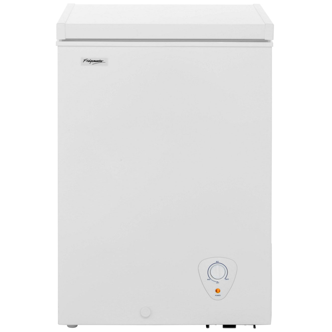 Fridgemaster MCF98 Free Standing Chest Freezer in White
