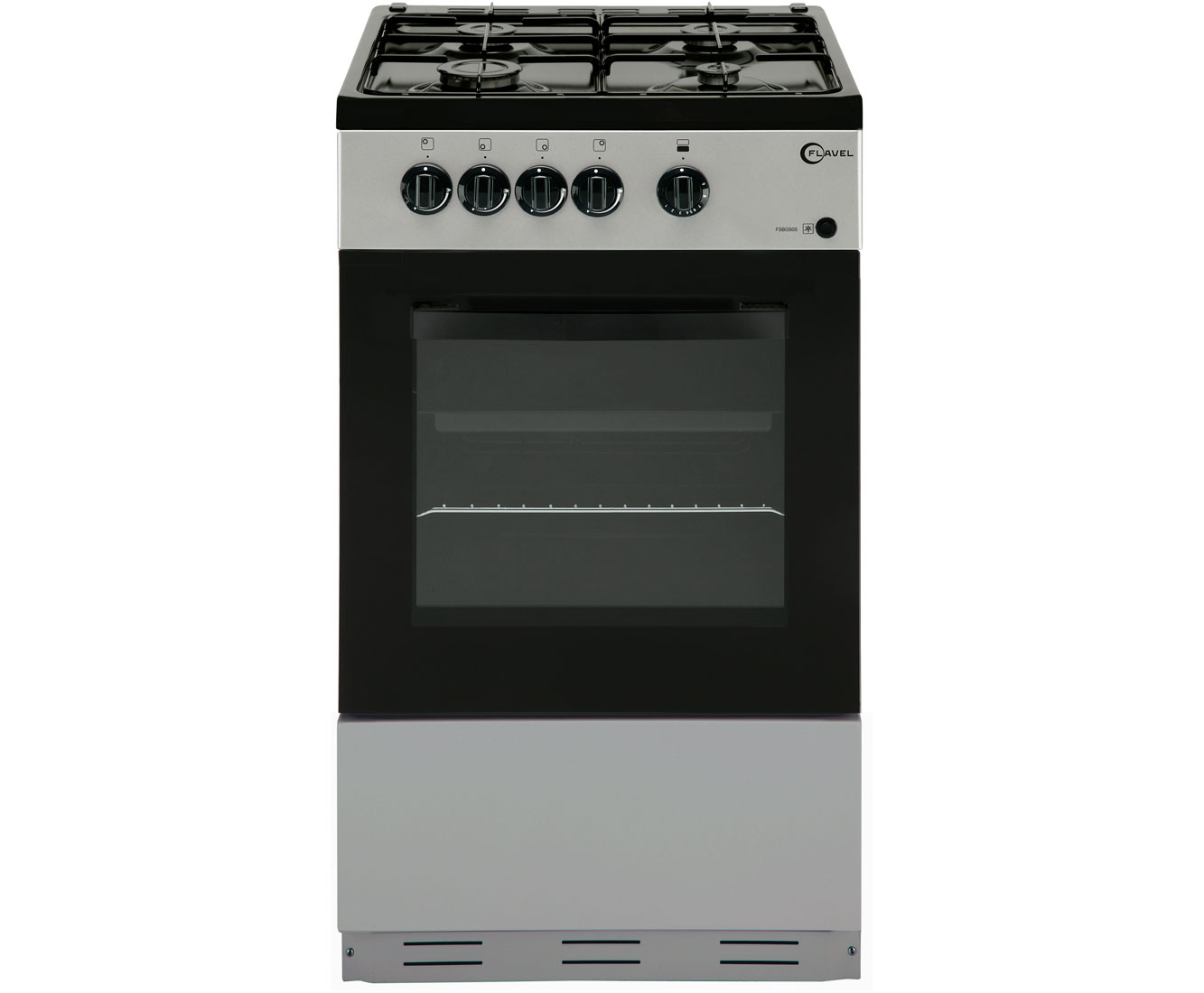 Flavel FSBG51S Gas Cooker - Silver
