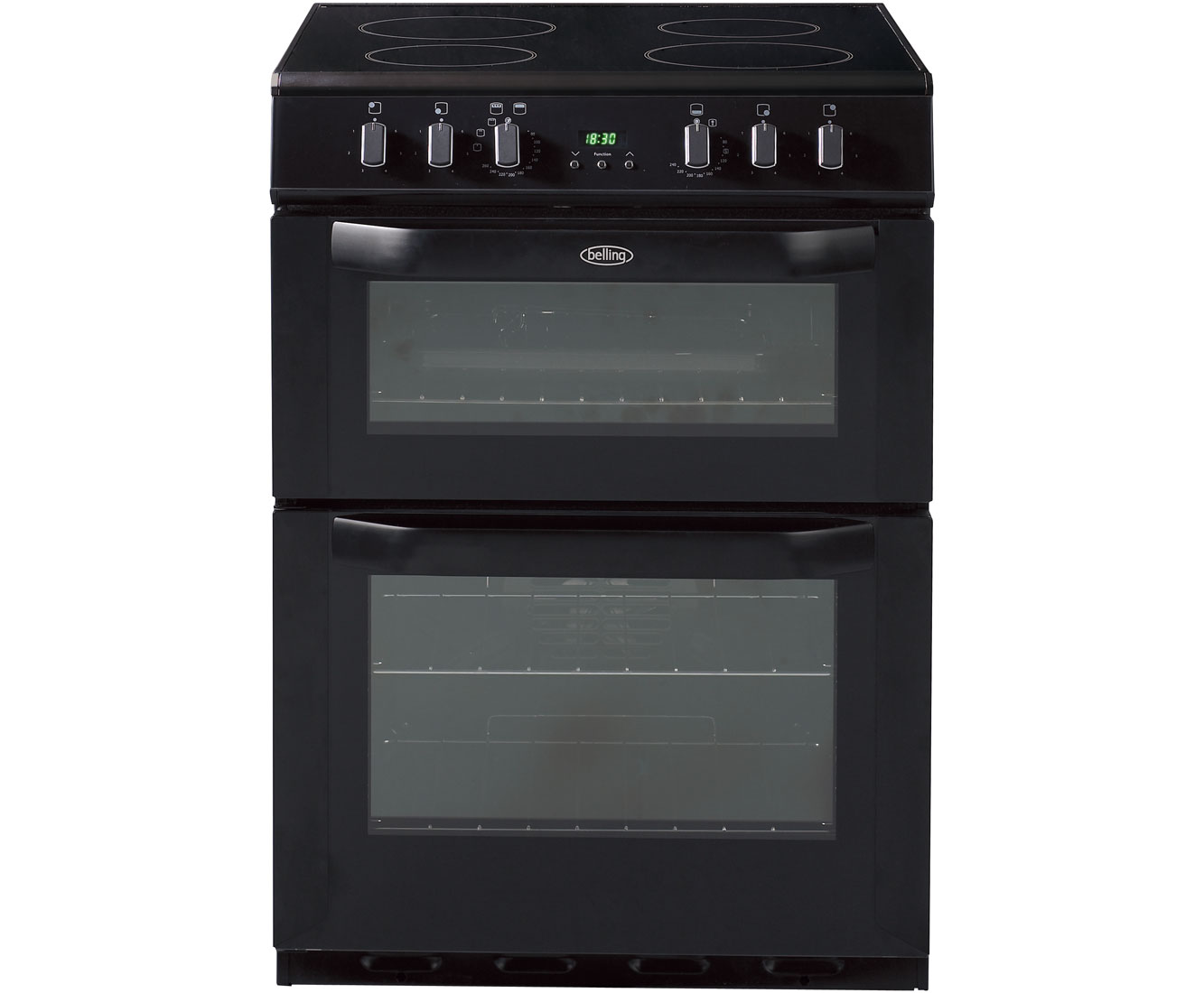 Belling FSE60DOP Electric Cooker with Ceramic Hob - Black