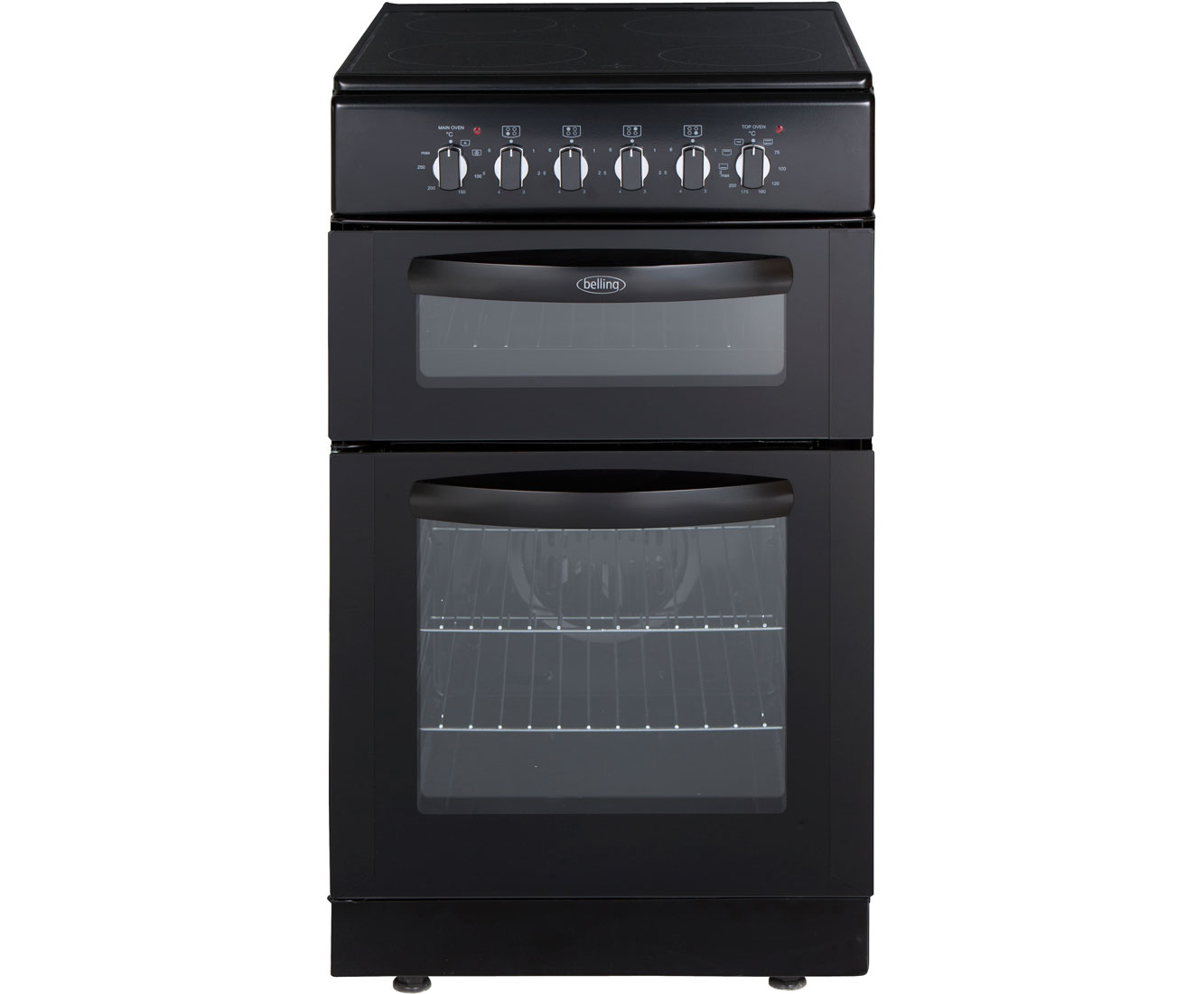 Belling FSEC50FDOB Electric Cooker with Ceramic Hob - Black