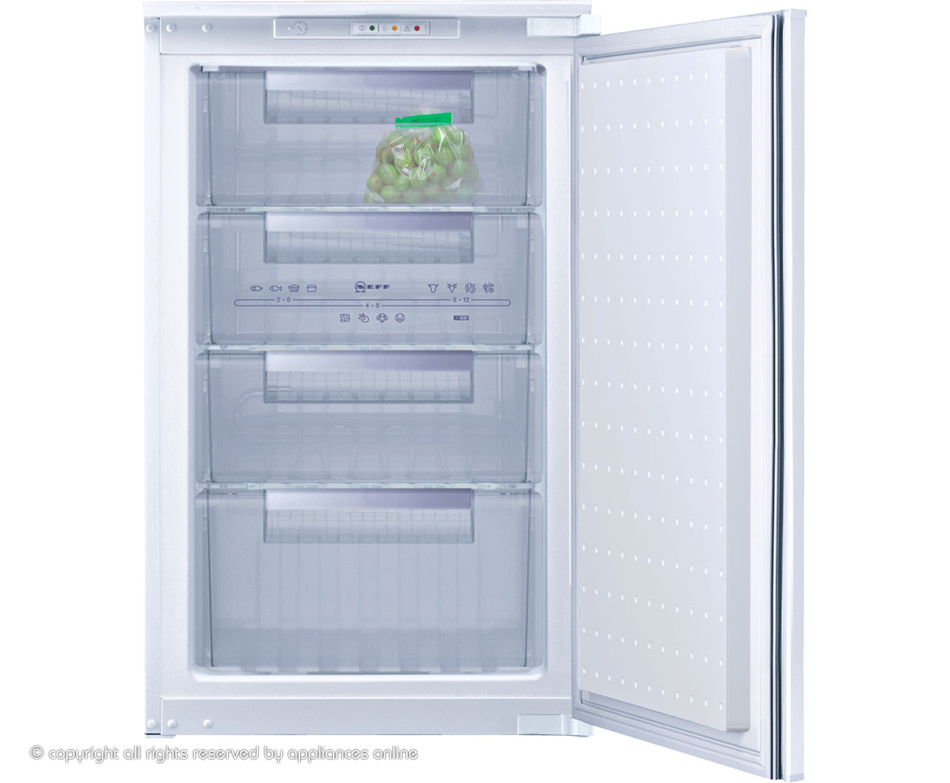 Neff G1524X7GB Integrated Freezer in White