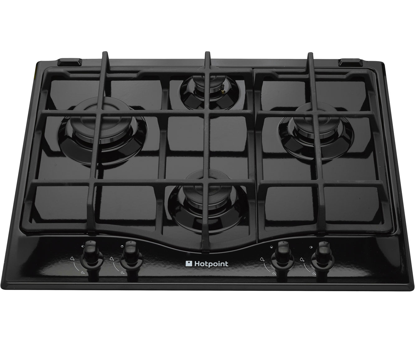 Hotpoint Ultima GC641IK Integrated Gas Hob in Black
