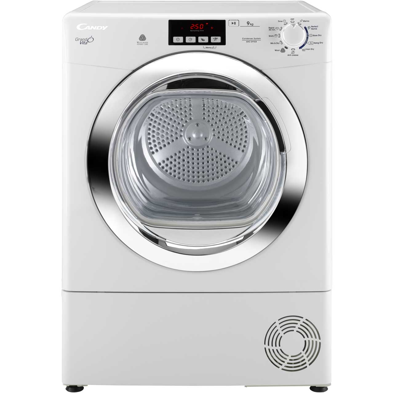 Candy Grand'O Vita GVCD91CB Condenser Tumble Dryer - White