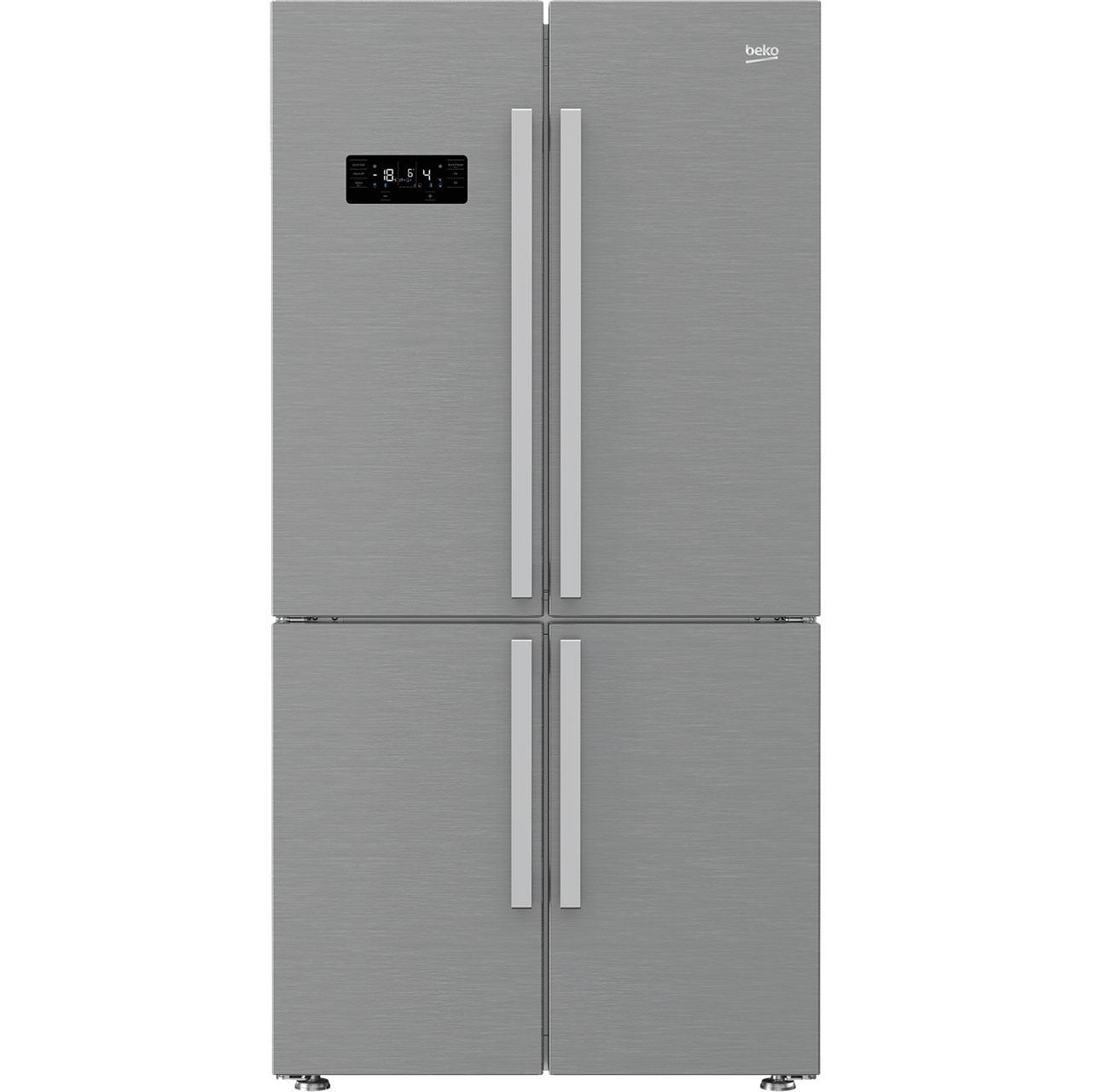 Beko GN1416221ZX Free Standing American Fridge Freezer in Stainless Steel