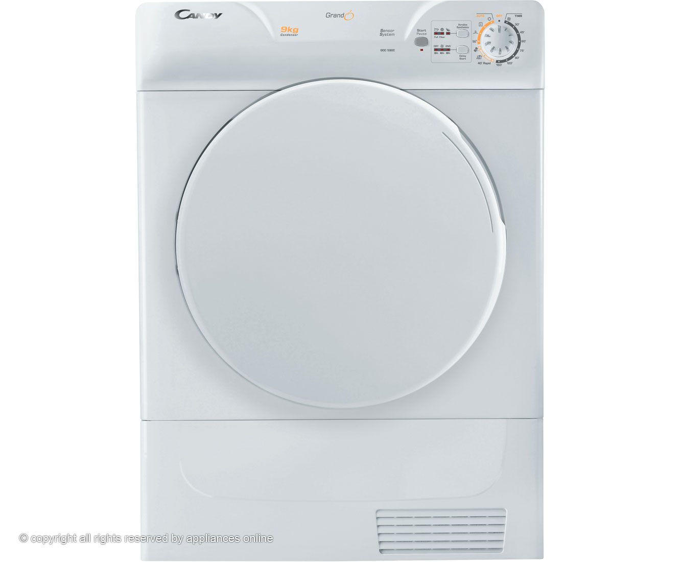 Candy GOC590C Condenser Tumble Dryer - White