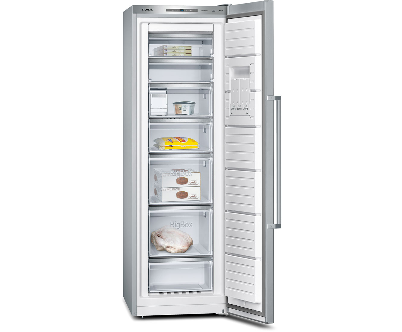 Siemens IQ-500 GS36NAI31 Upright Freezer - Stainless Steel Look