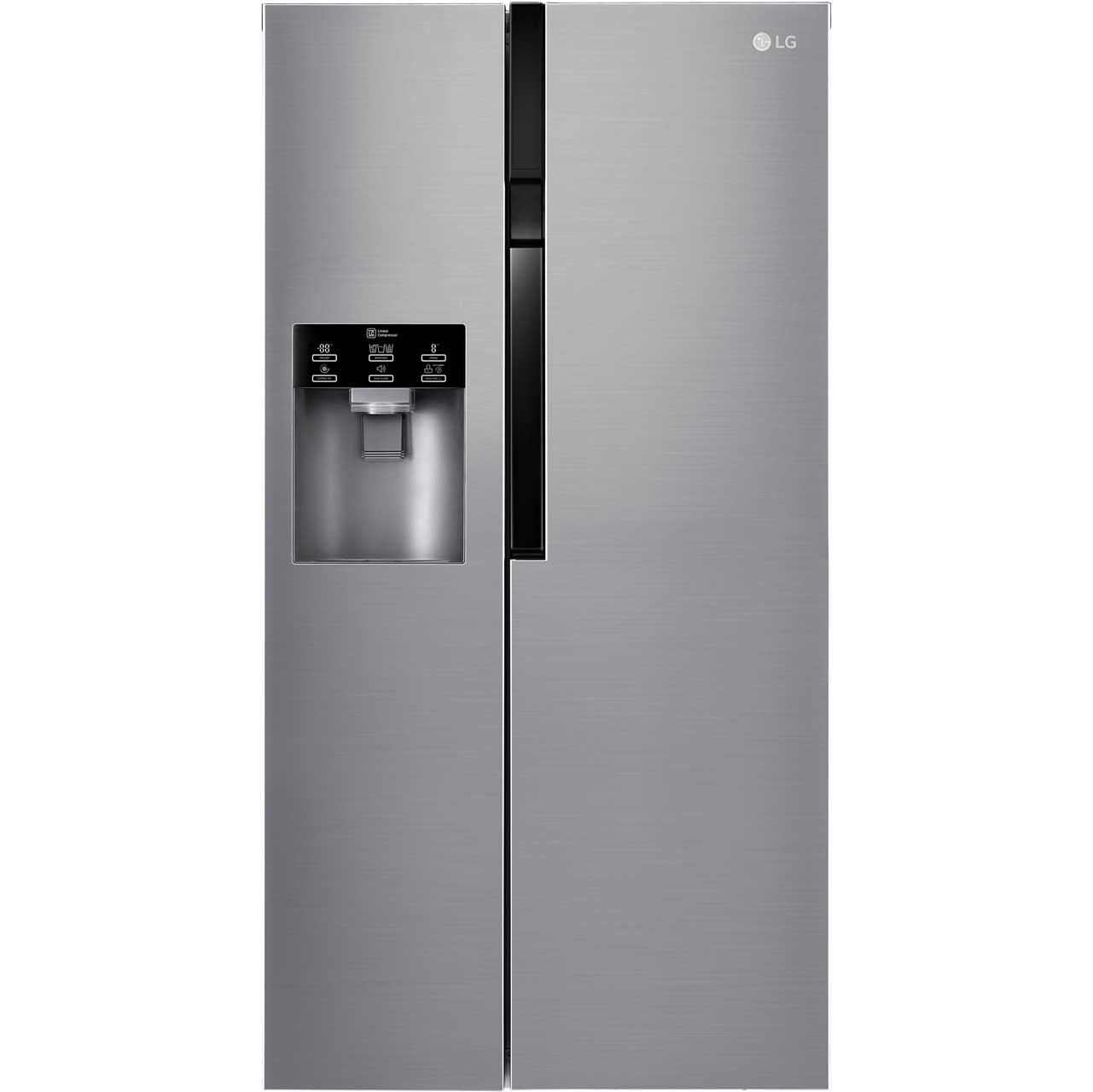LG GSL561PZUZ Free Standing American Fridge Freezer in Stainless Steel