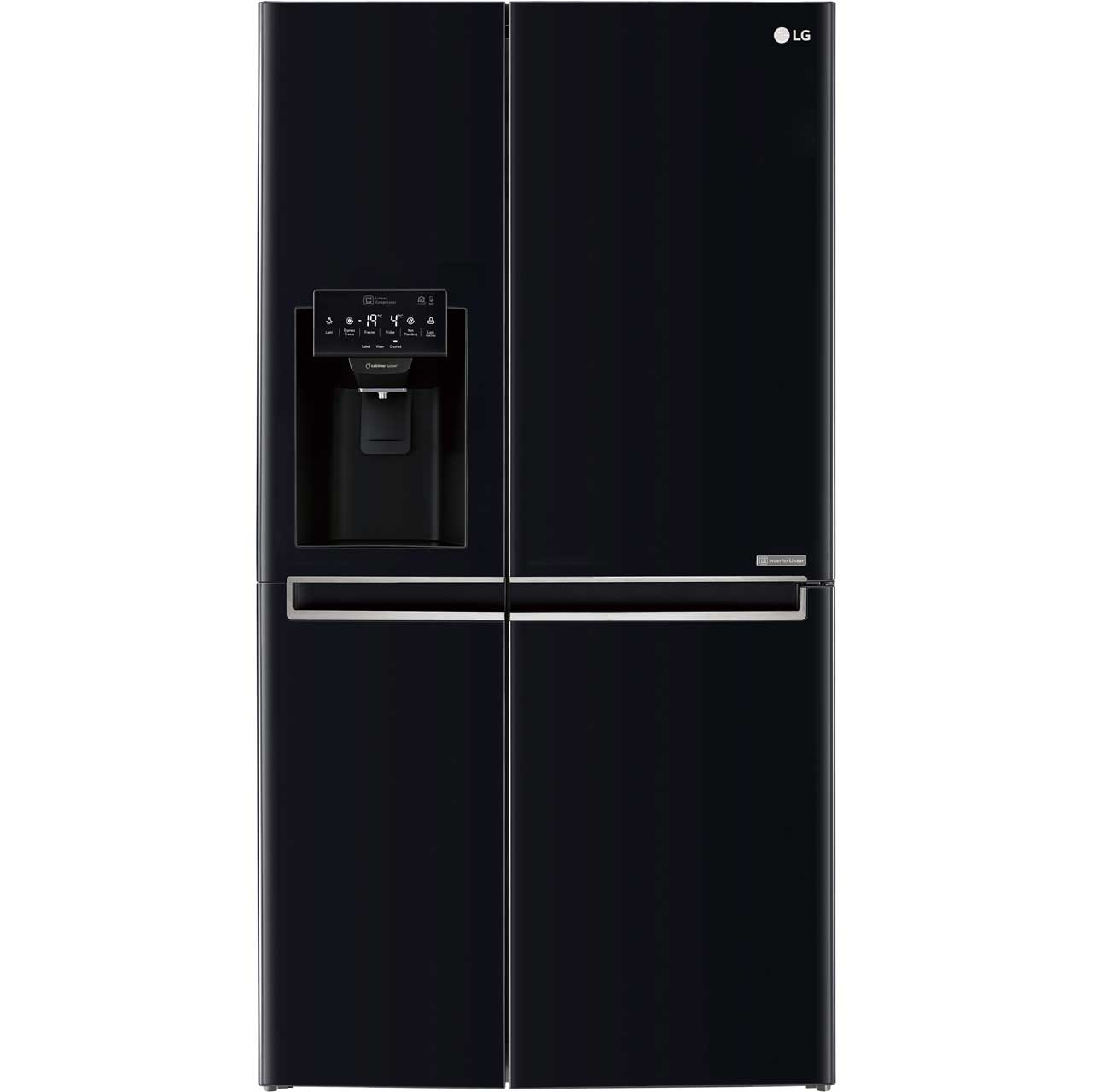 LG GSL761WBXV Free Standing American Fridge Freezer in Black