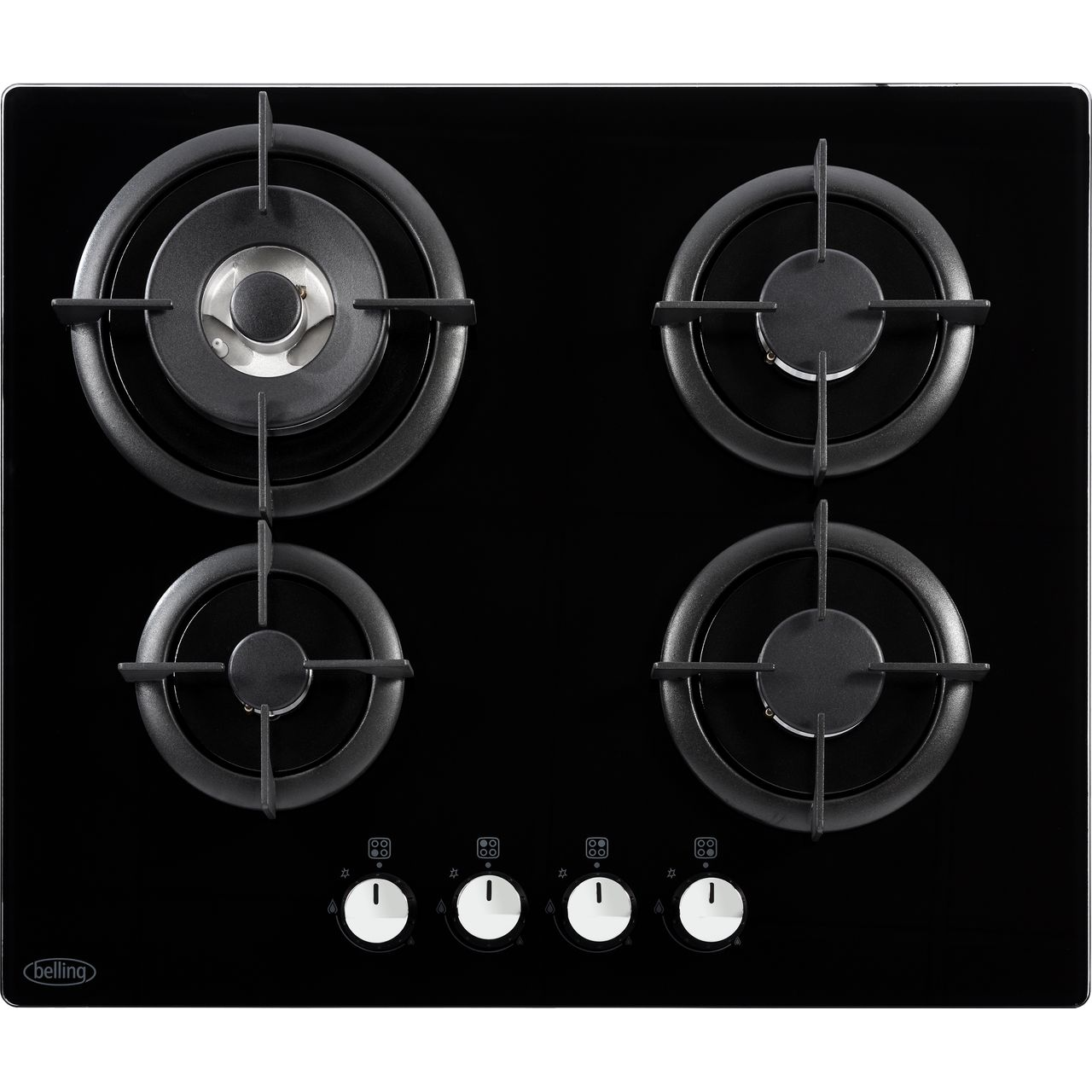 2 X Premium Quality White Cooker Oven Hob Control Knob Button Flame Burner Switch For Belling