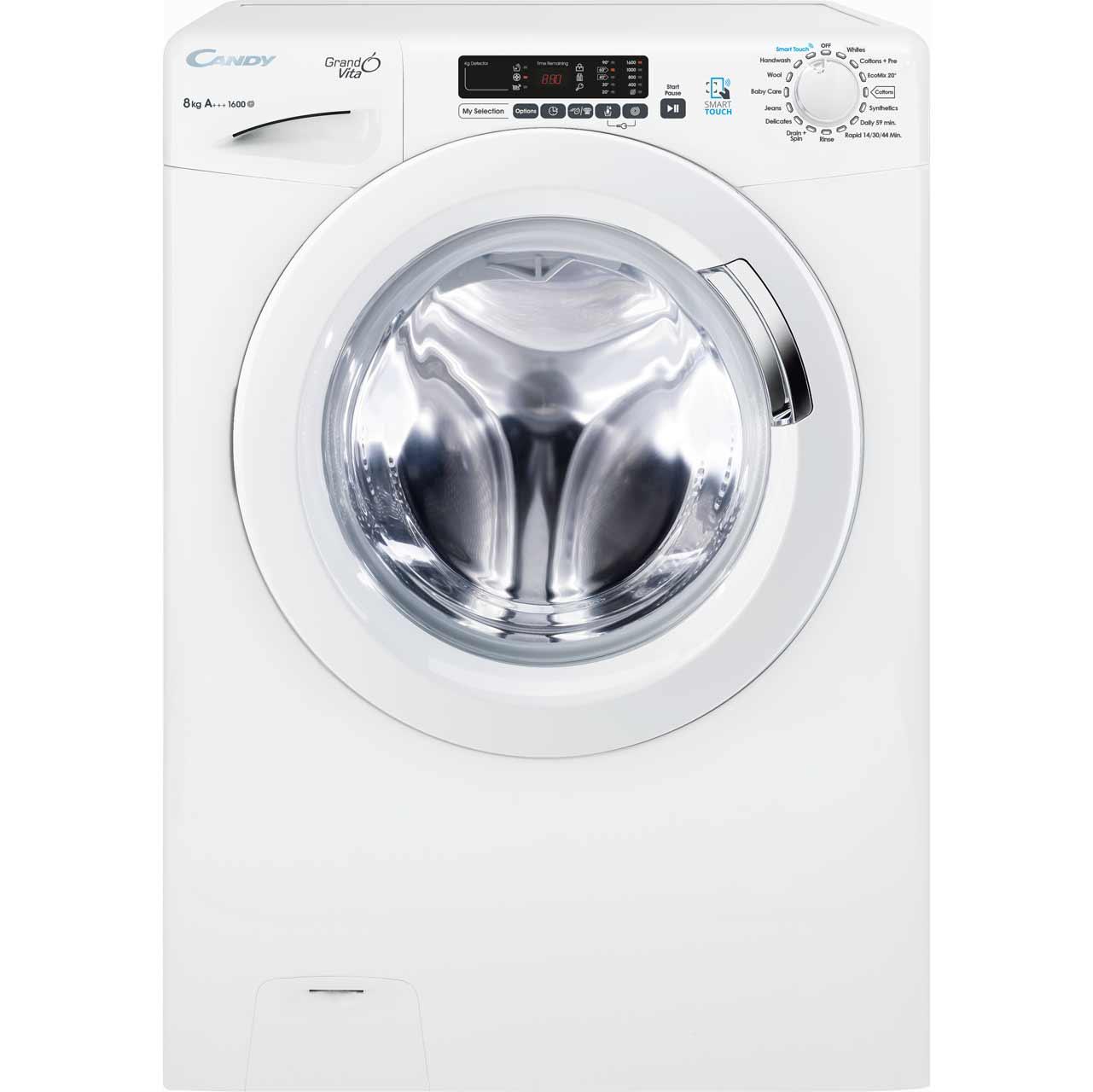 gvs168d3 wh candy 8kg washing machine ao com rh ao com Washing Machine User Manual Candy C420 Washing Machine
