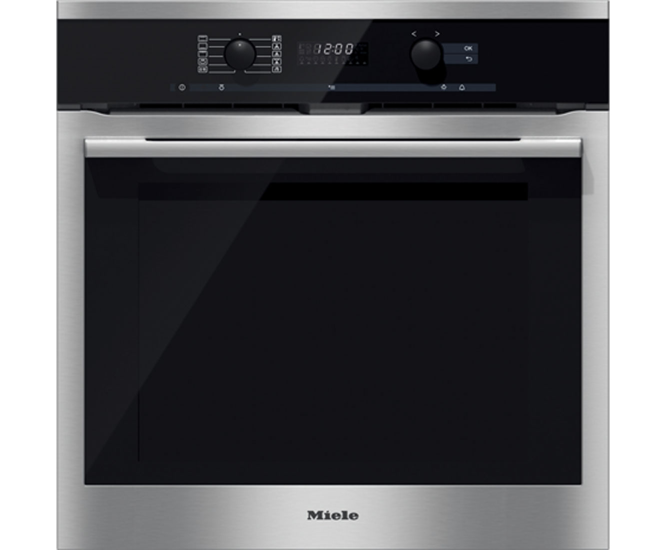 Miele ContourLine H6160BP Built In Electric Single Oven - Clean Steel