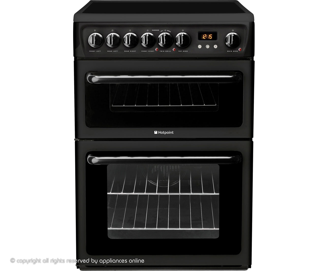 Hotpoint HAE60K Electric Cooker with Ceramic Hob - Black