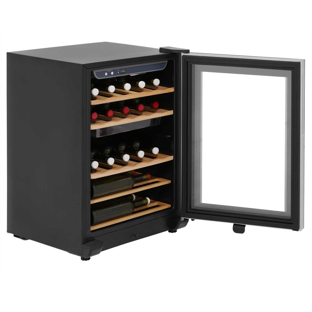 haier ws25ga free standing wine cooler fits 25 bottles. Black Bedroom Furniture Sets. Home Design Ideas