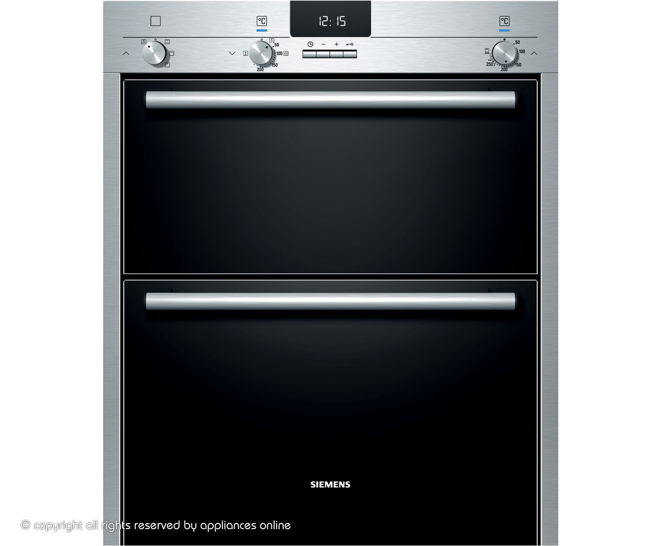 Siemens IQ100 HB13NB521B Built Under Double Oven in Stainless Steel