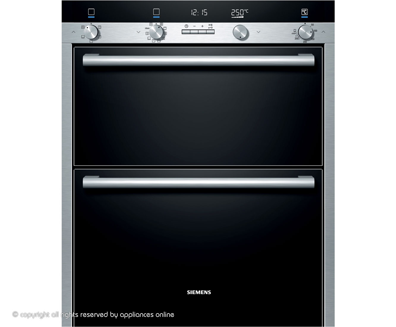 Siemens IQ-500 HB55NB550B Built Under Double Oven - Stainless Steel