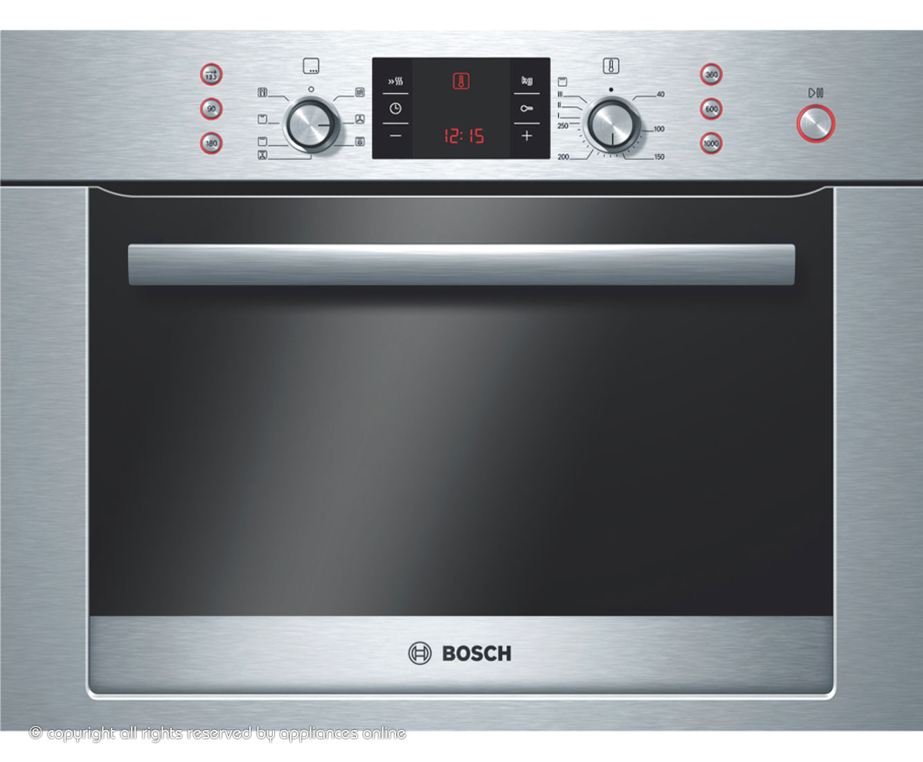 Bosch Exxcel HBC84E653B Built In Combination Microwave Oven - Brushed Steel