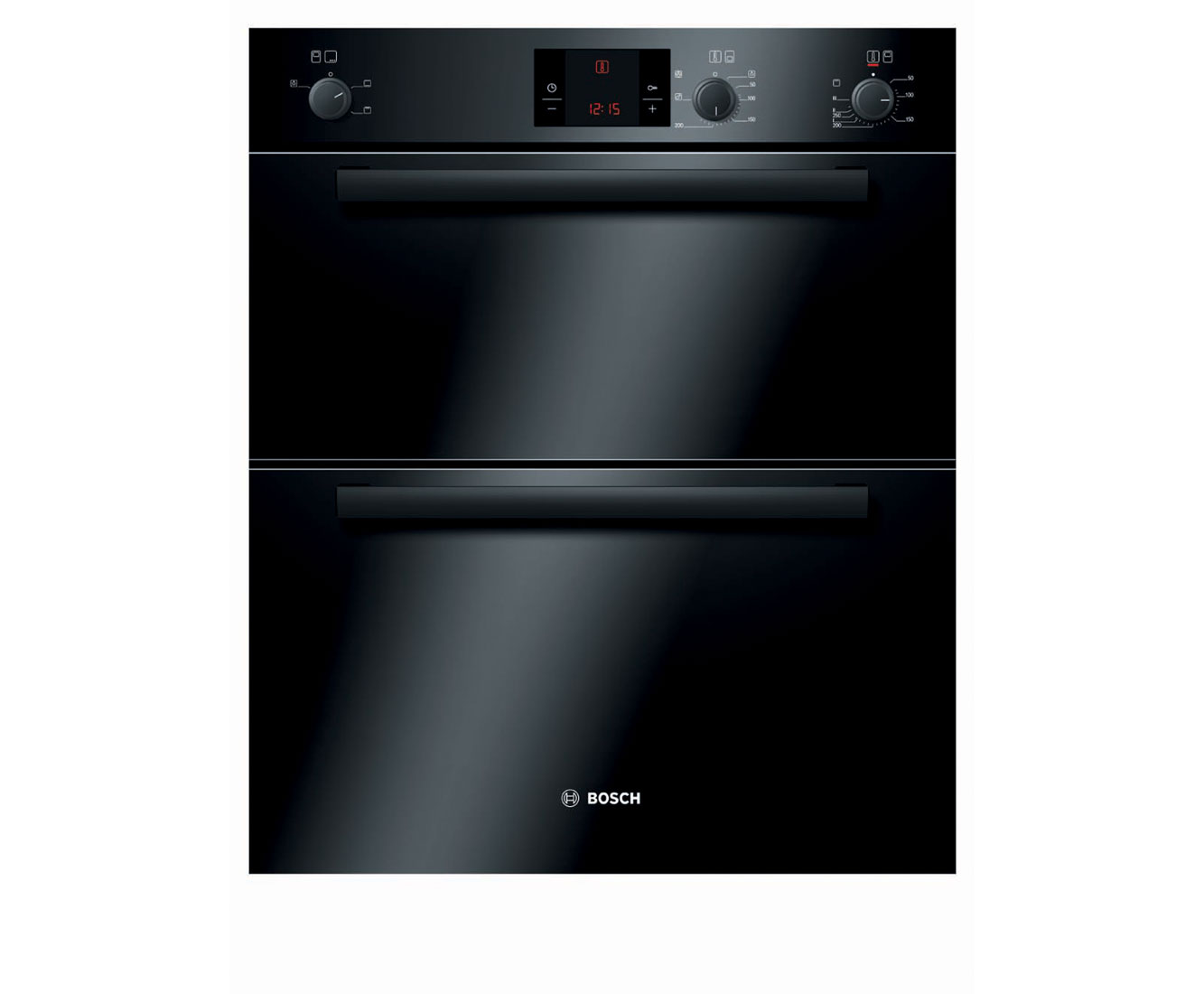 Bosch Serie 4 HBN13B261B Built Under Double Oven in Black