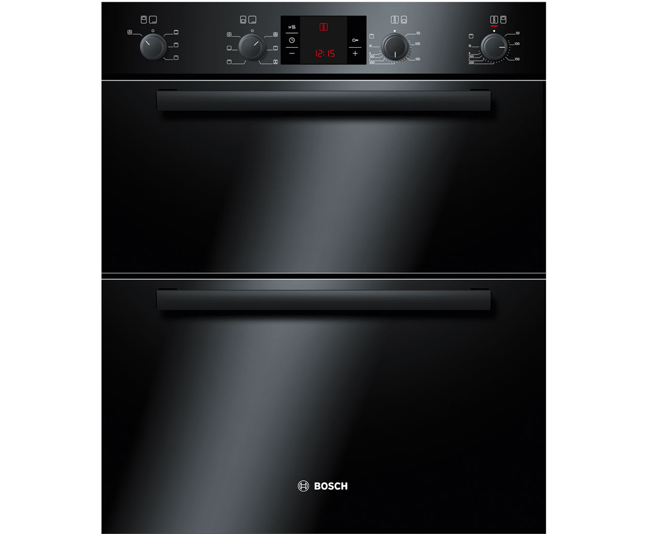 Bosch Serie 4 HBN43B260B Built Under Double Oven in Black