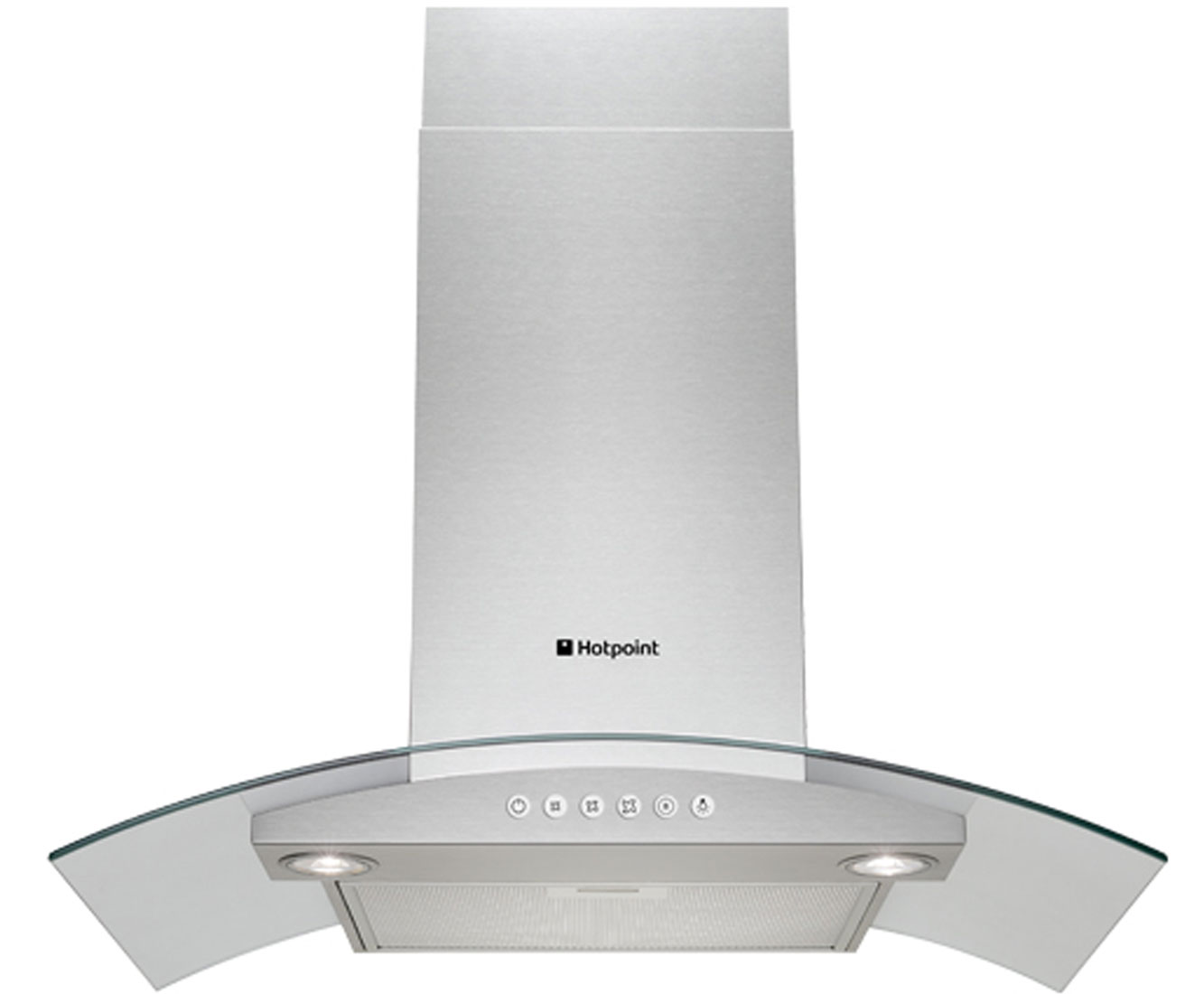 Hotpoint HDA65SAB 60 cm Chimney Cooker Hood - Stainless Steel