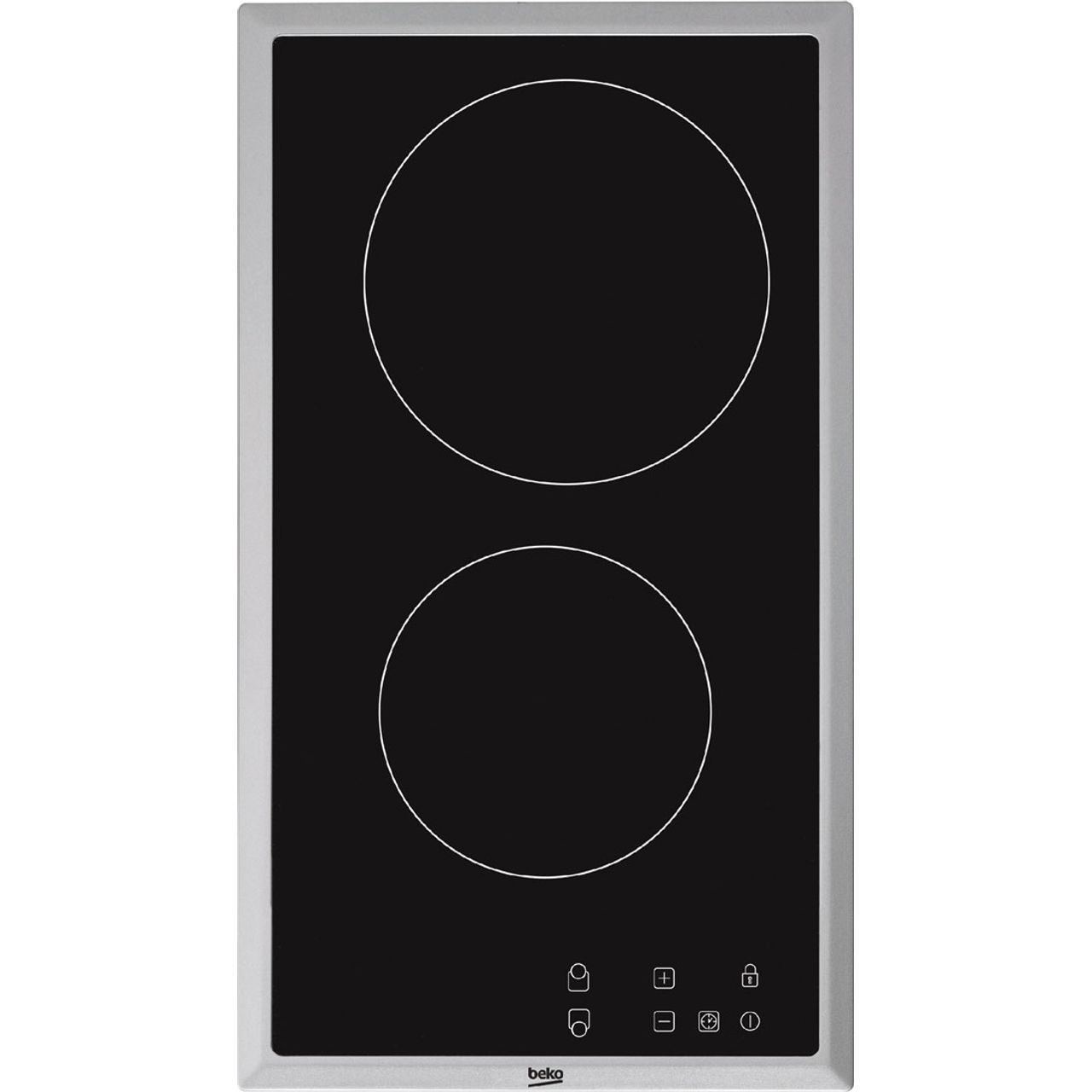 BEKO  HDMC32400TX Electric Ceramic Domino Hob - Black, Black