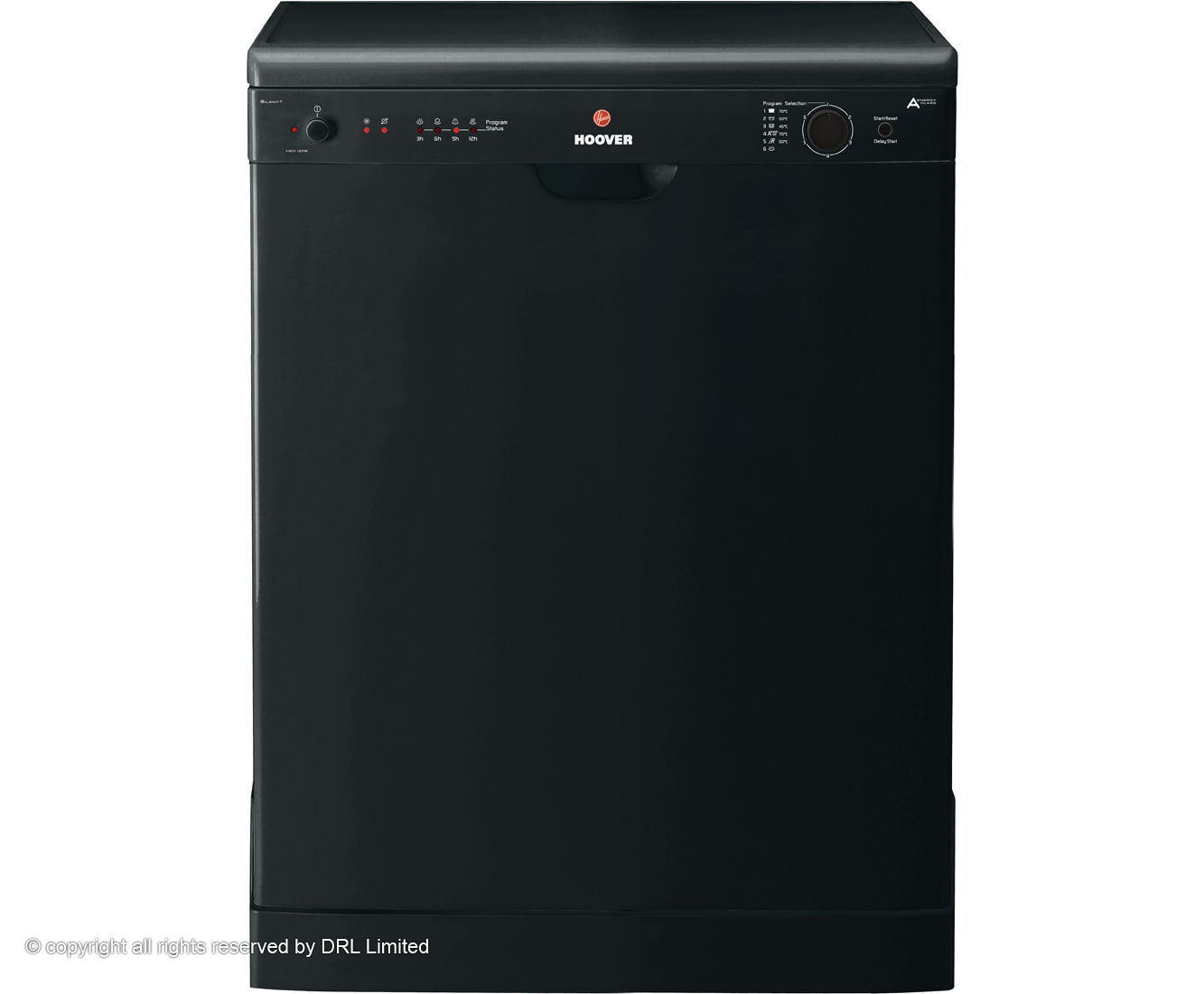 Hoover HED120B Standard Dishwasher - Black