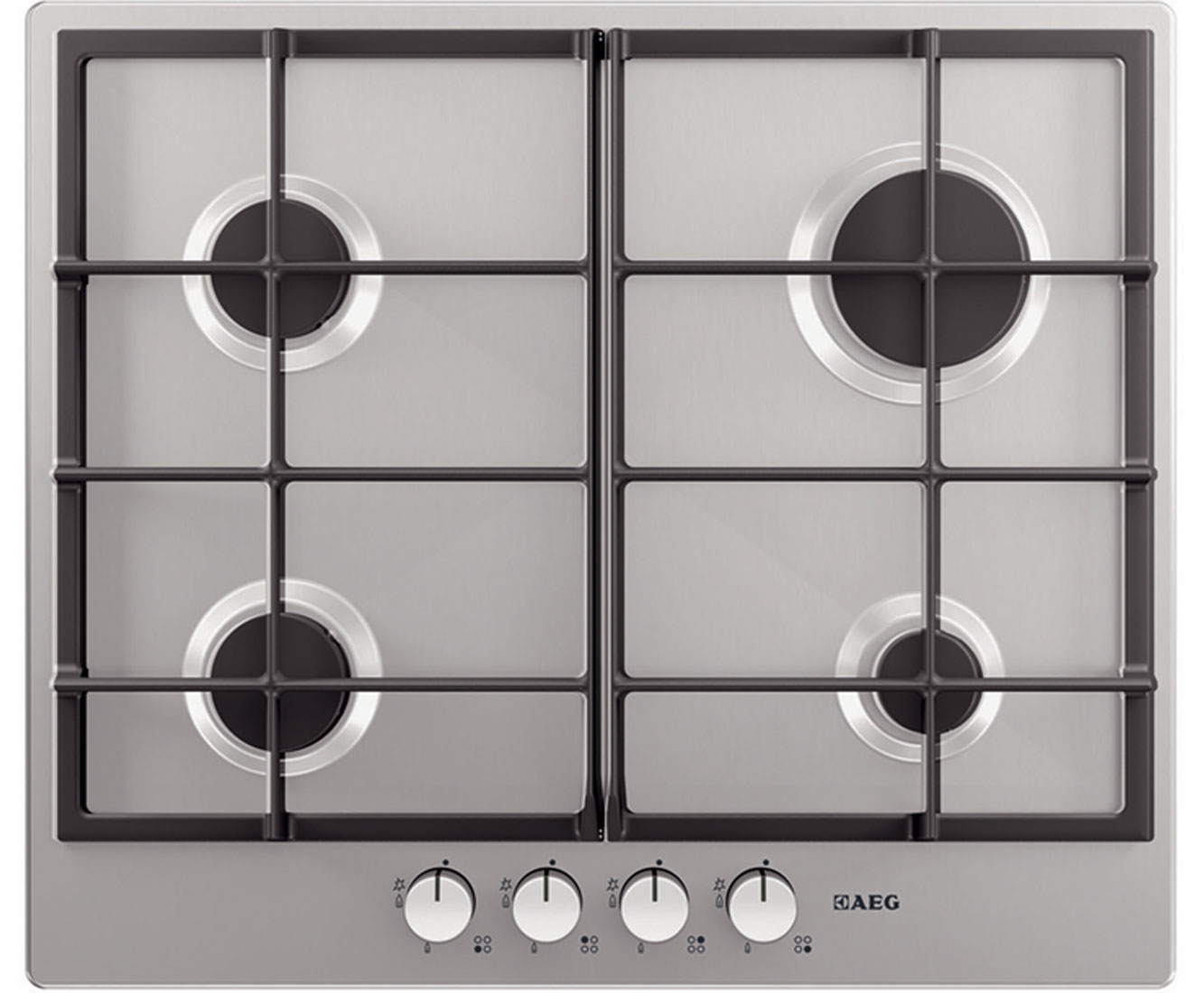 AEG Competence HG654320NM Integrated Gas Hob in Stainless Steel