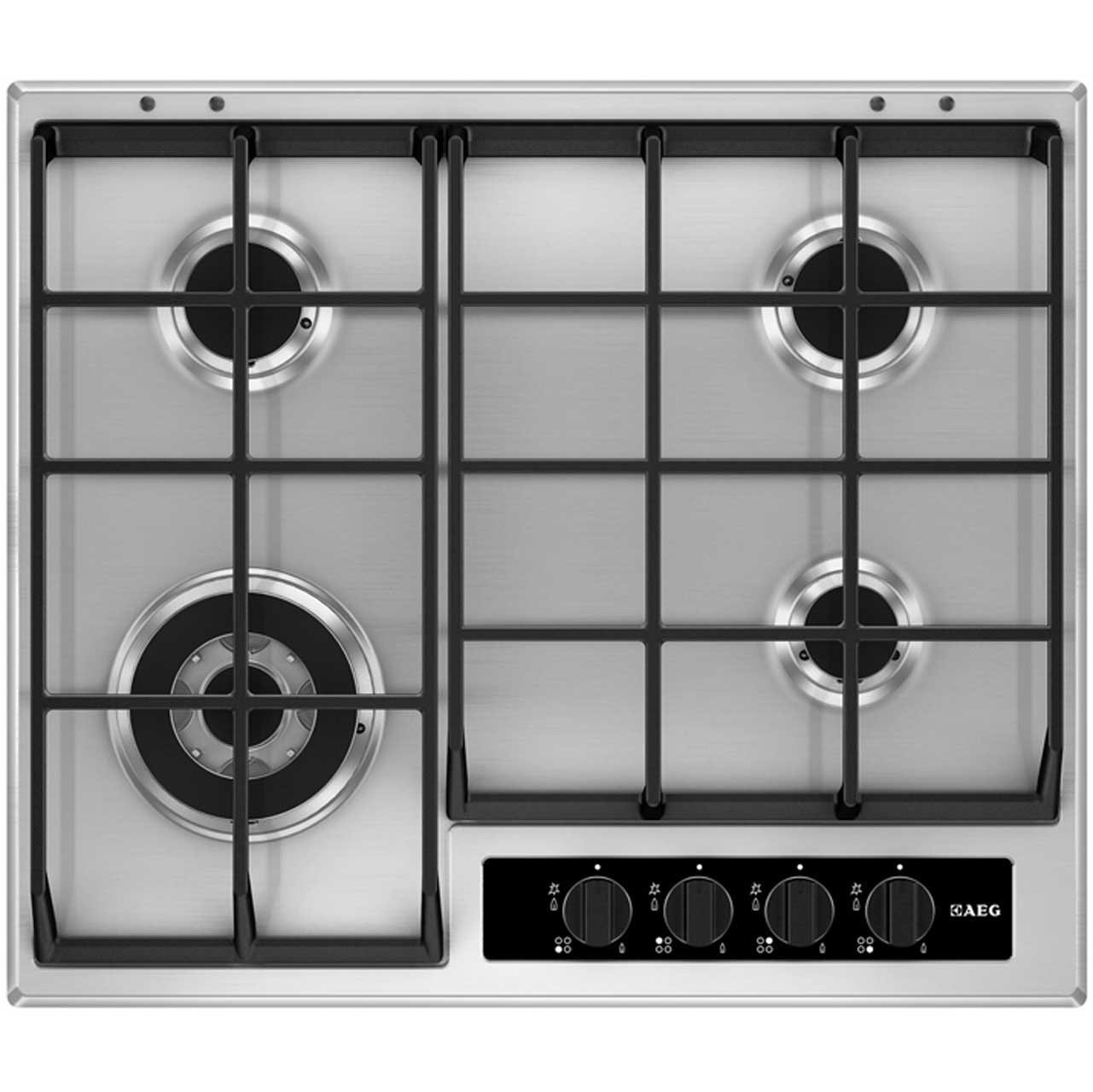 AEG HG65SY4550 Integrated Gas Hob in Stainless Steel