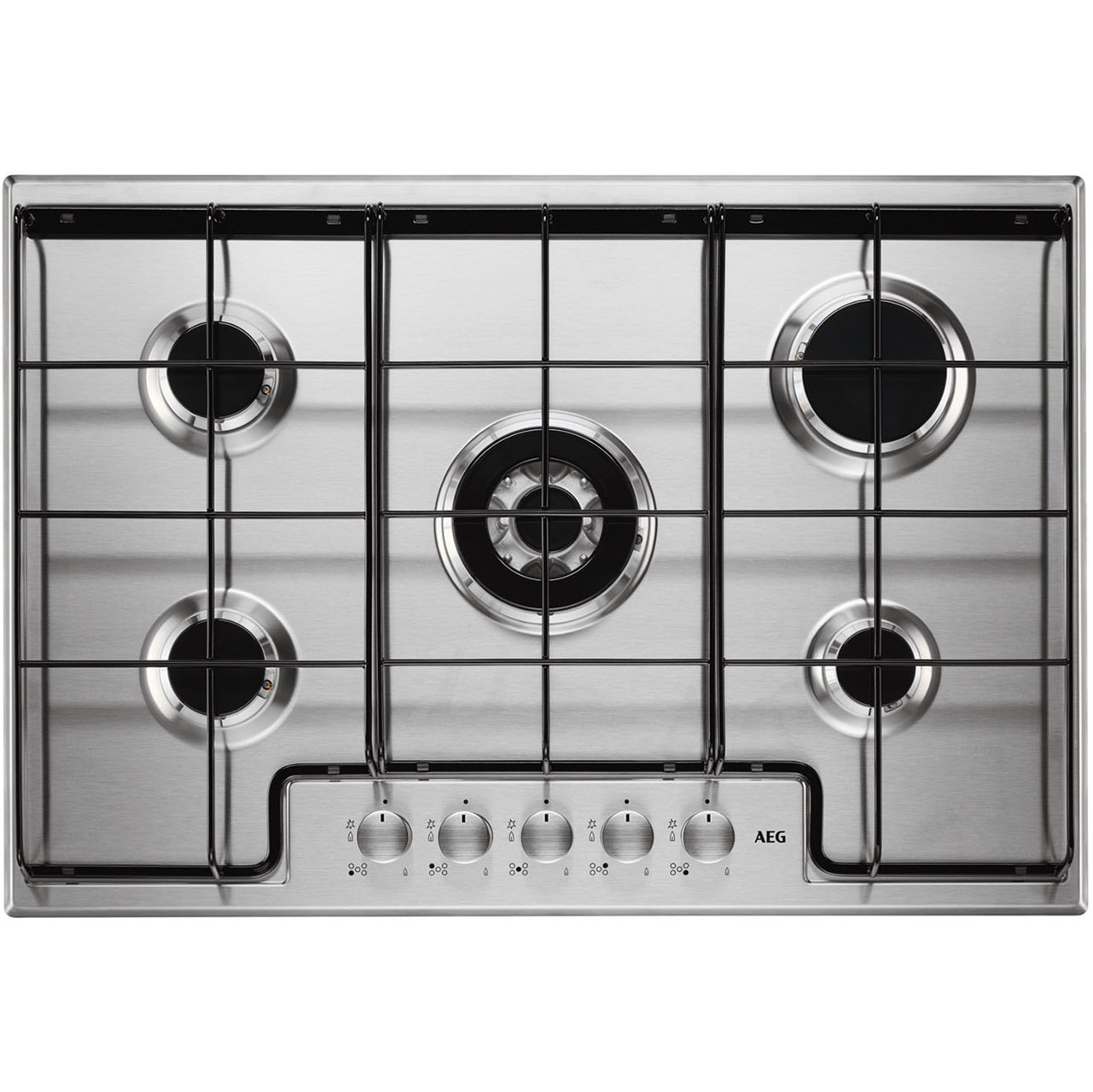 AEG HG745450SM Integrated Gas Hob in Stainless Steel