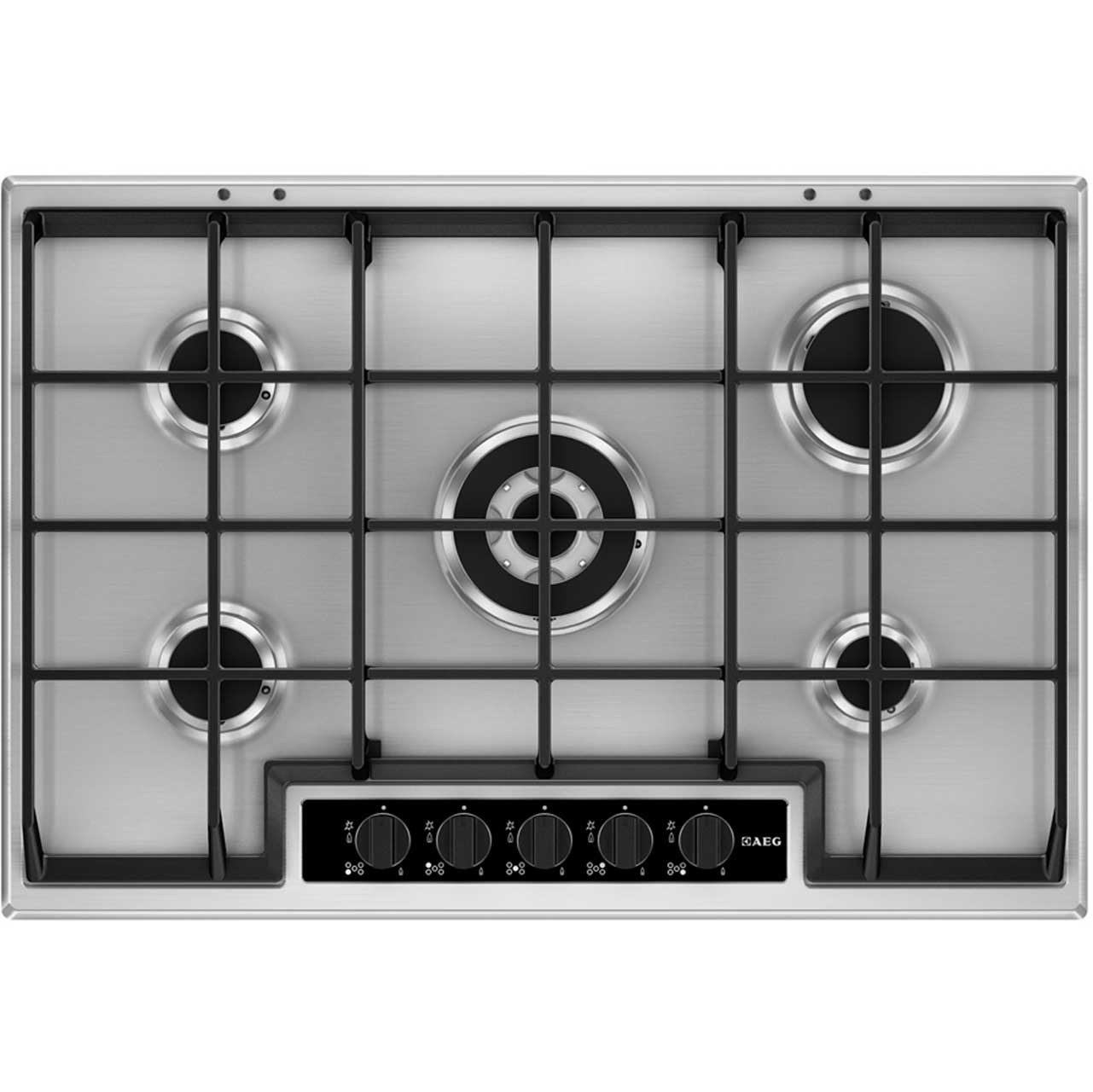 AEG HG75SY5450 Integrated Gas Hob in Stainless Steel