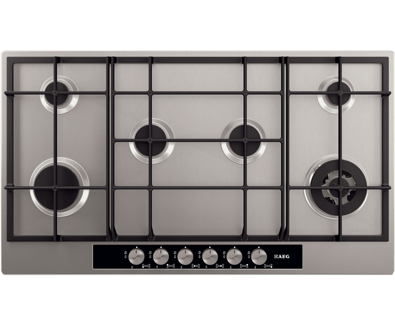 AEG Competence HG956440SM Integrated Gas Hob in Stainless Steel