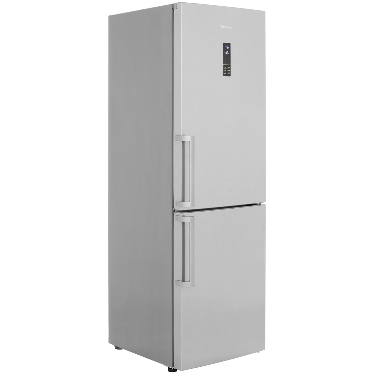 Hisense RB403N4AC2 Free Standing Fridge Freezer Frost Free in Stainless Steel Look