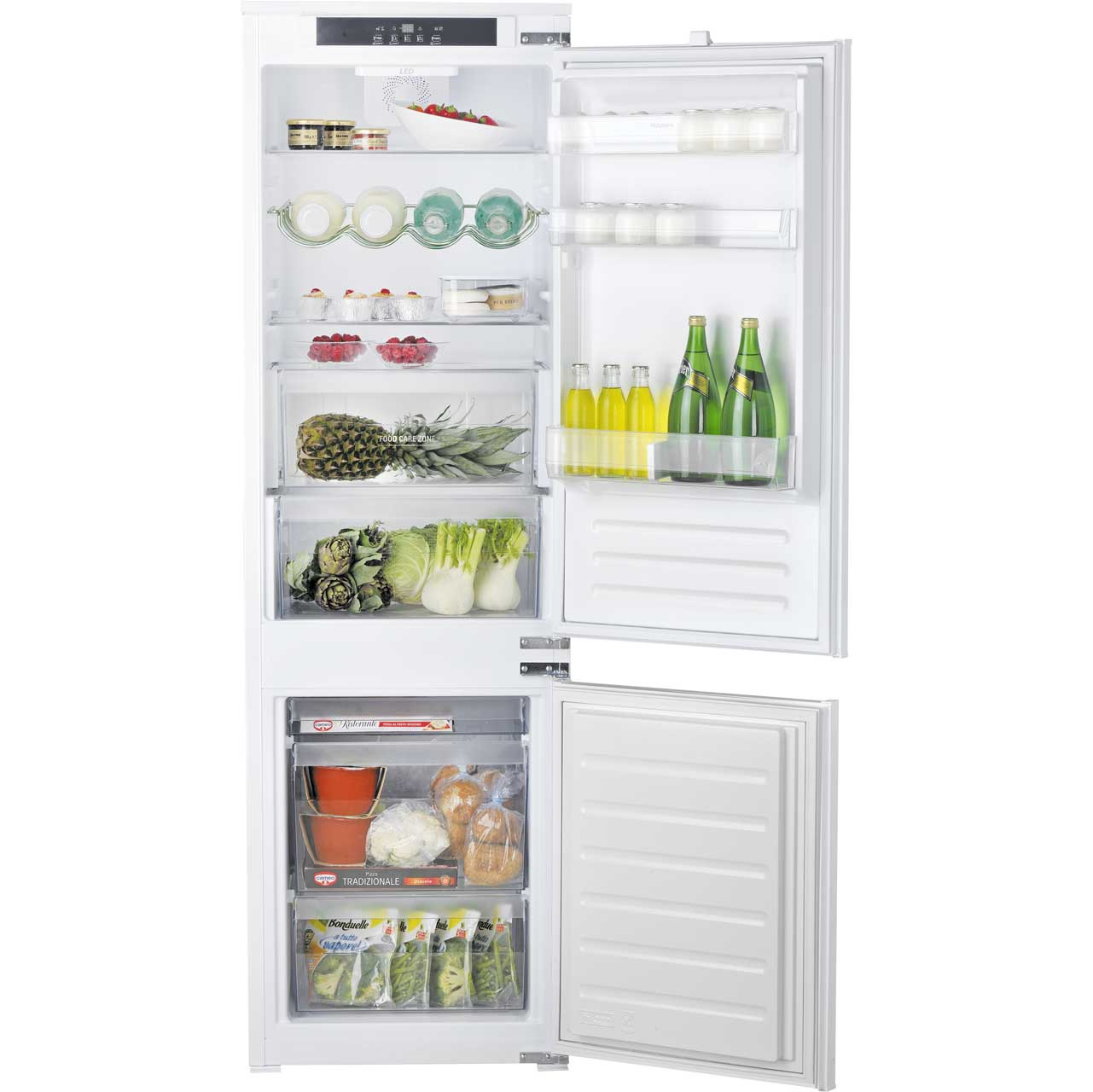 Hotpoint HM7030ECAA Integrated Fridge Freezer in White