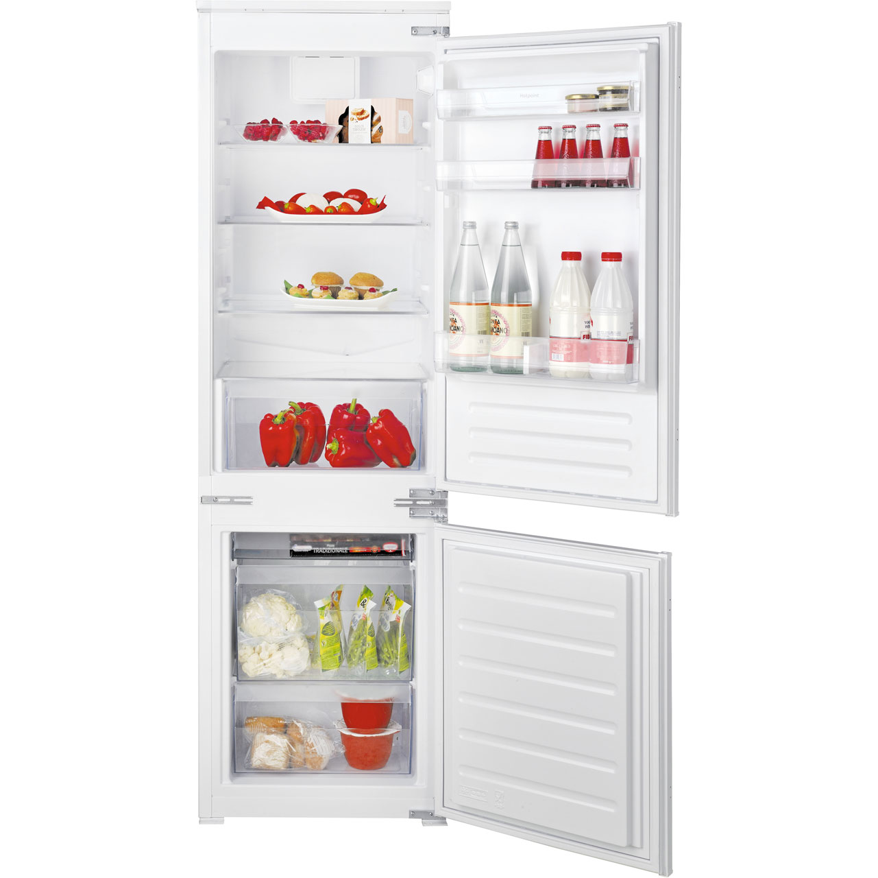 Hotpoint HMCB7030AADF Integrated Fridge Freezer Frost Free in White