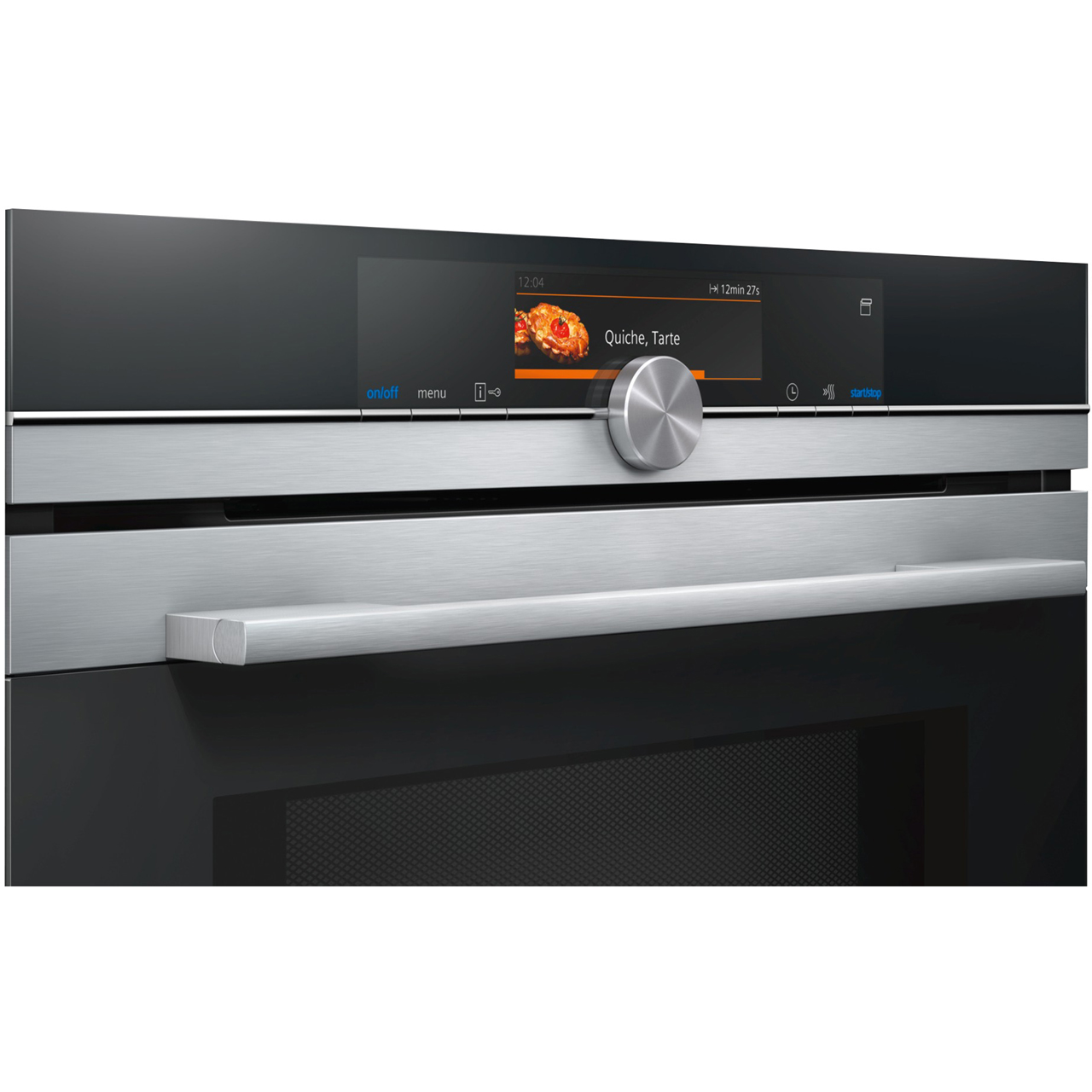 Stainless Steel Siemens HN678GES6B iQ700 WiFi Connected Built in Electric Single Oven with Microwave /& Steam Function