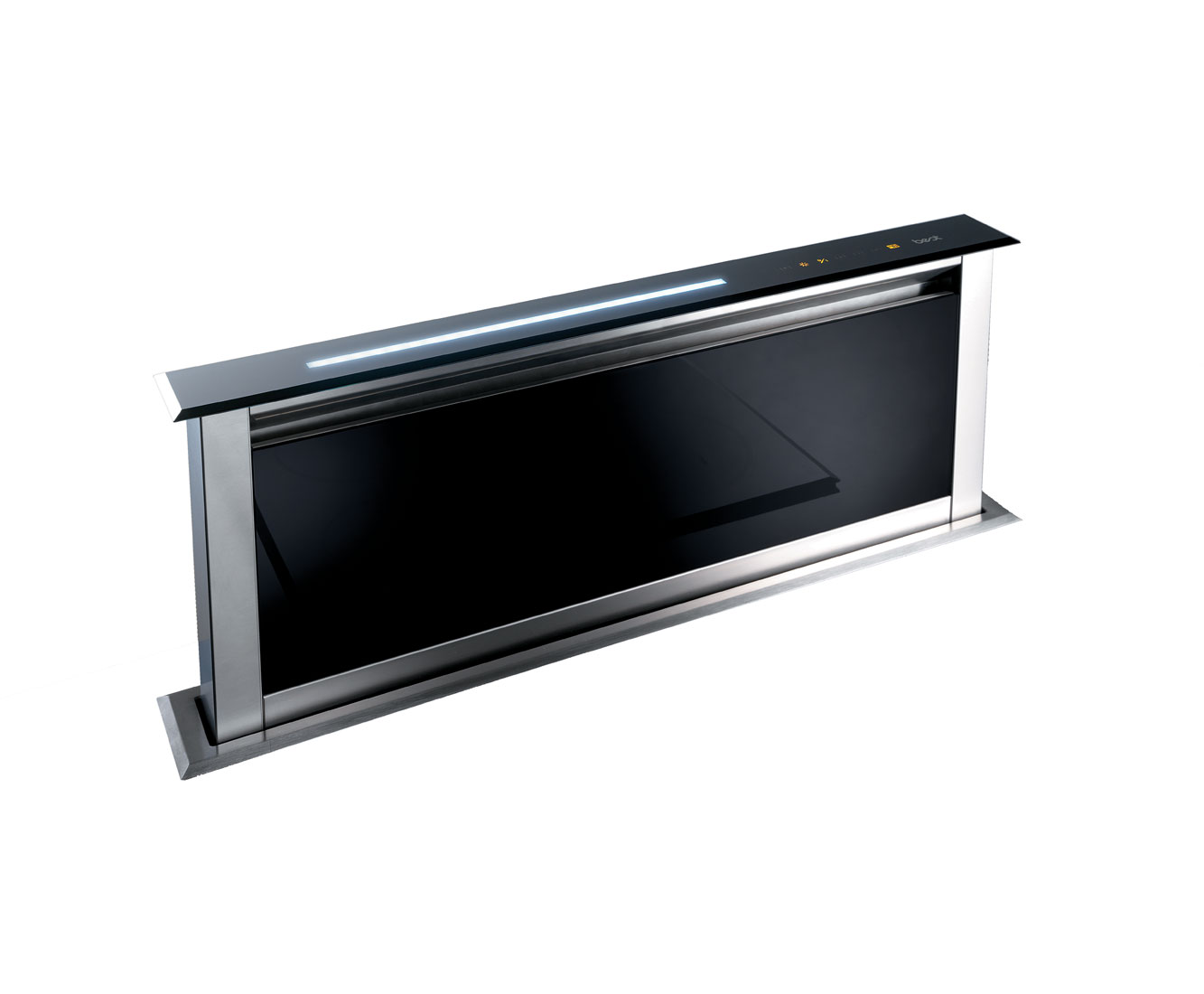 BEST Lift HOODBELI90GL Integrated Cooker Hood in Black Glass