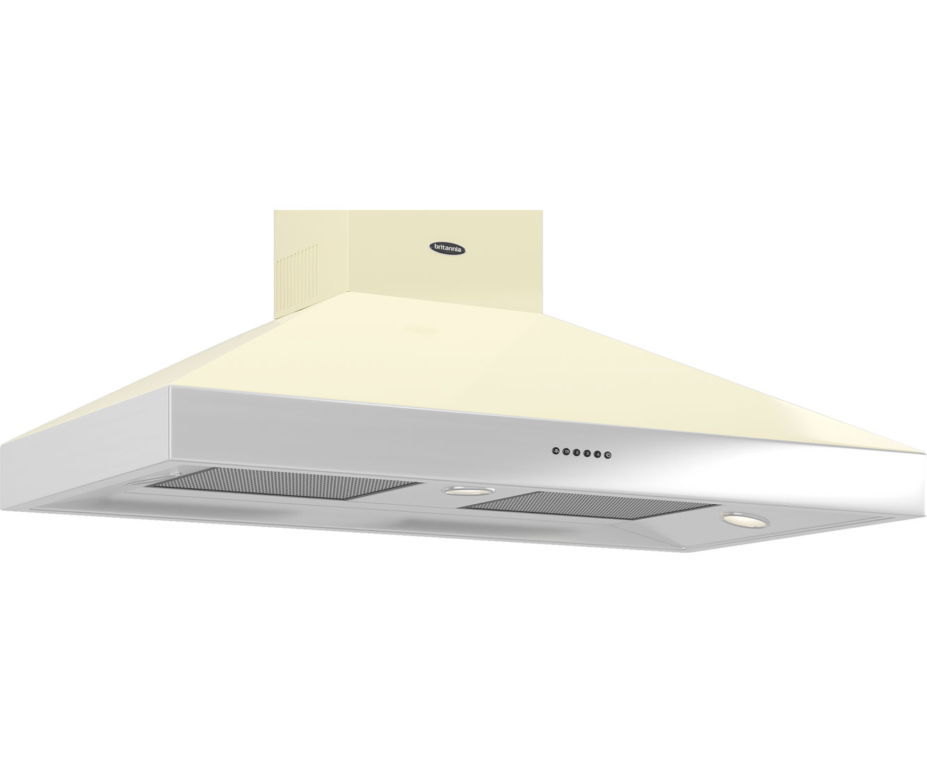 Britannia Latour HOODBTH110GC Integrated Cooker Hood in Gloss Cream