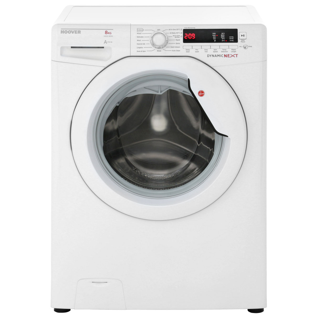 Hoover Dynamic Next DXCE48AW3 8Kg Washing Machine with 1400 rpm - White