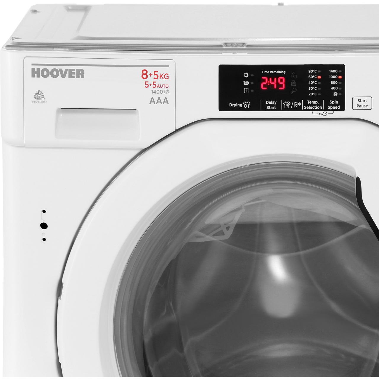 hoover hbwd8514d built in 8kg a washer dryer white new. Black Bedroom Furniture Sets. Home Design Ideas