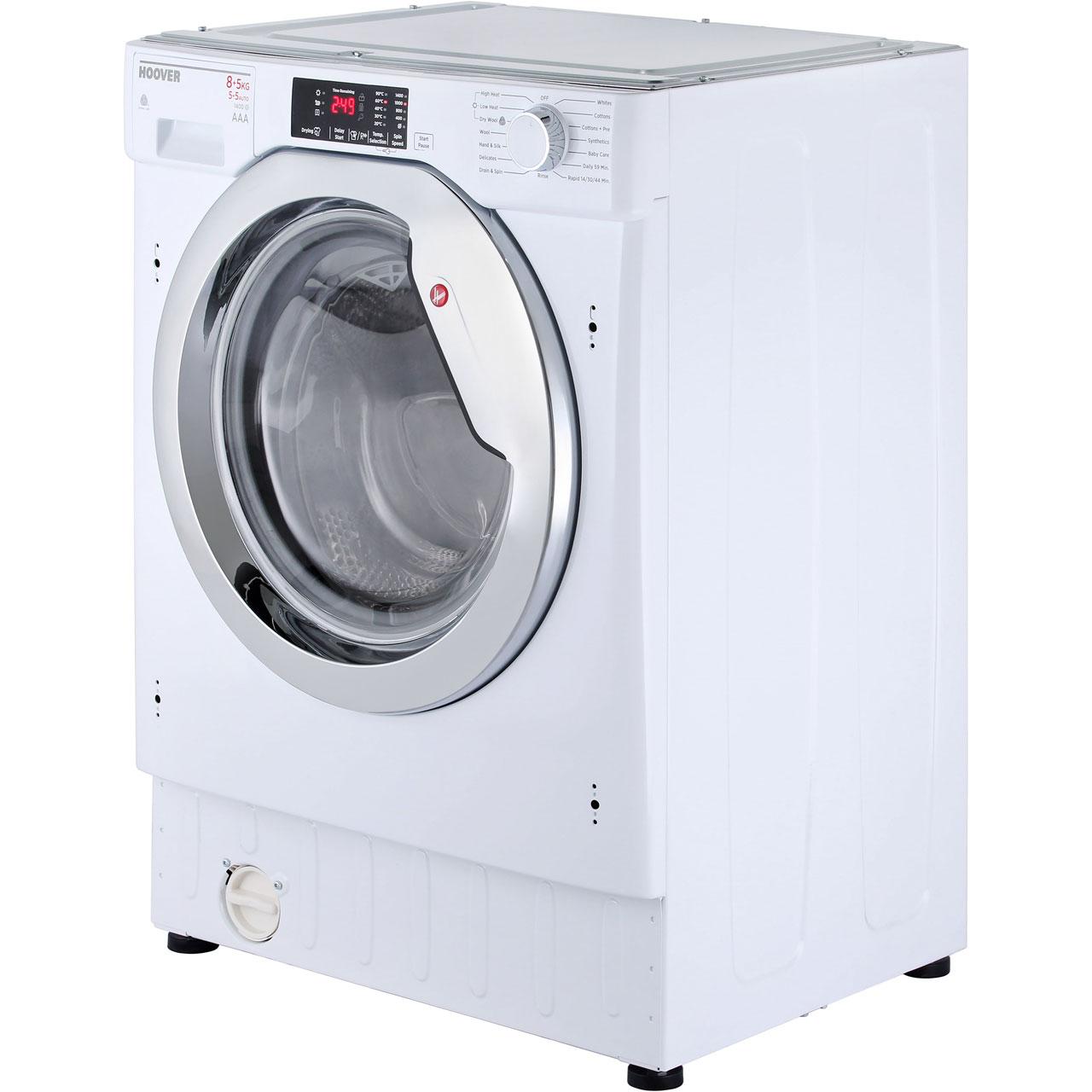 hoover hbwd8514dc built in 8kg a washer dryer white new. Black Bedroom Furniture Sets. Home Design Ideas